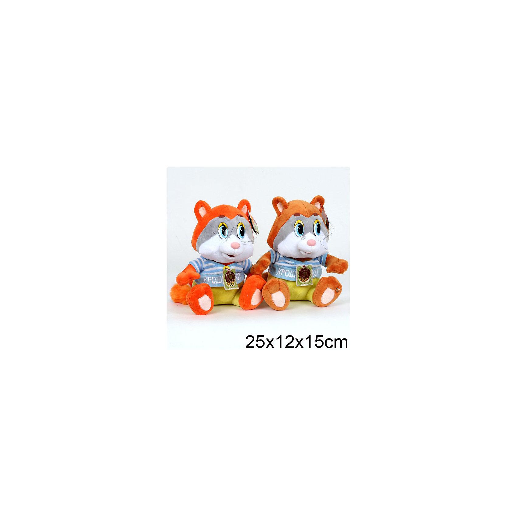 МУЛЬТИ-ПУЛЬТИ Мягкая игрушка Крошка Енот, 25 см, МУЛЬТИ-ПУЛЬТИ мульти пульти мягкая игрушка серый мышонок 23 см со звуком кот леопольд мульти пульти
