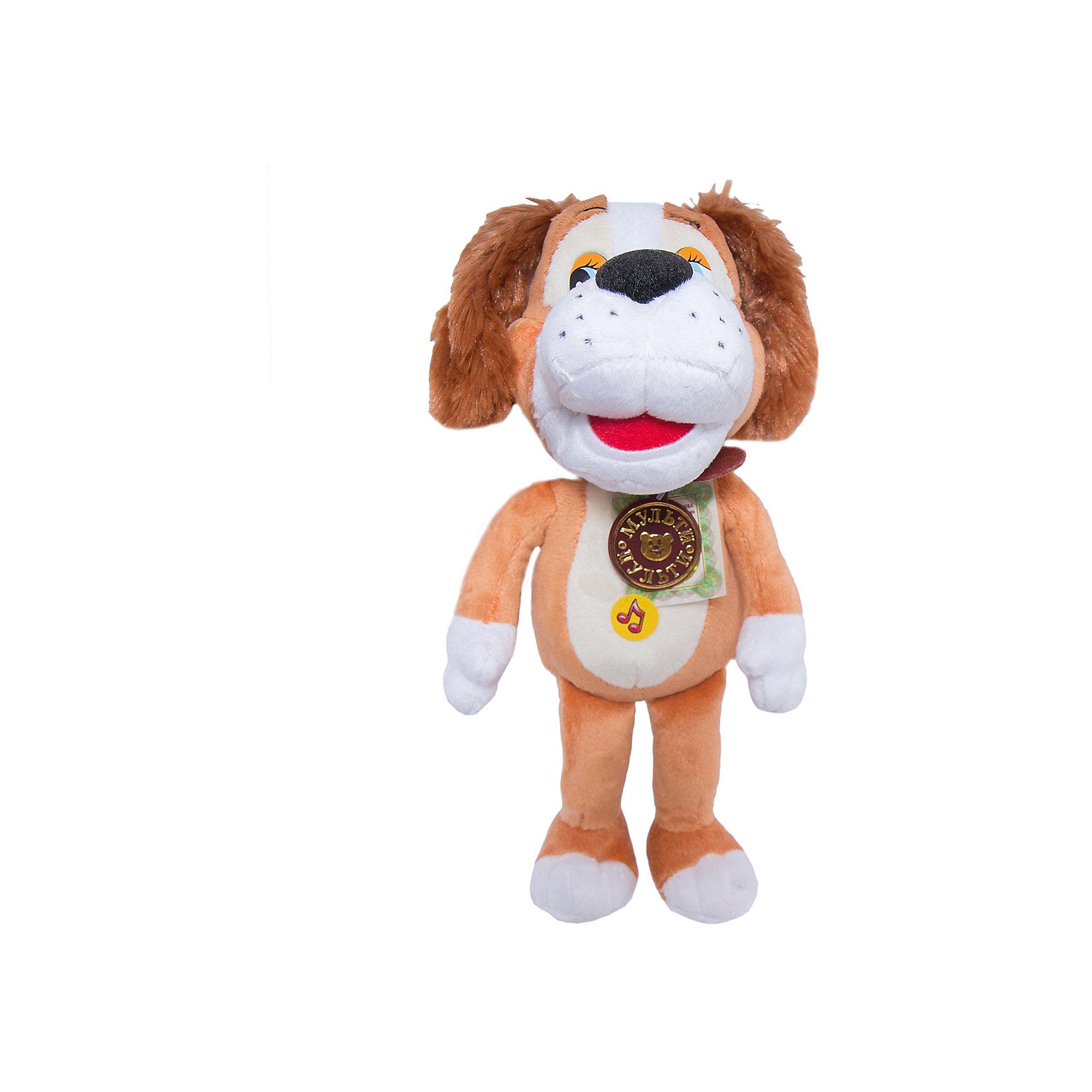 Мягкая игрушка Барбос, 20 см, Бобик в гостях у Барбоса, МУЛЬТИ-ПУЛЬТИЛюбимые герои<br>Мягкая игрушка собака Барбос от Мульти-Пульти порадует и позабавит Вашего ребенка. Собачка Барбос из мультфильма Бобик в гостях у Барбоса хорошо знакома как детям так и взрослым, это озорной веселый пес, который очень любит пошалить. Игрушка оснащена звуковым устройством, если нажать на собачку, она заговорит голосом своего персонажа и споет песенки.<br><br>Дополнительная информация:<br><br>- Материал: цветной плюш, текстиль, пластик.<br>- Требуются батарейки:  3 *типа LR44 (входят в комплект).<br>- Размер игрушки: 20 см.<br>- Размер упаковки: 14 х 22 х 17 см.<br> <br>Мягкую игрушку Барбос из мультфильма Бобик в гостях у Барбоса от Мульти-Пульти можно купить в нашем магазине.<br><br>Ширина мм: 110<br>Глубина мм: 190<br>Высота мм: 280<br>Вес г: 330<br>Возраст от месяцев: 36<br>Возраст до месяцев: 72<br>Пол: Унисекс<br>Возраст: Детский<br>SKU: 2149196