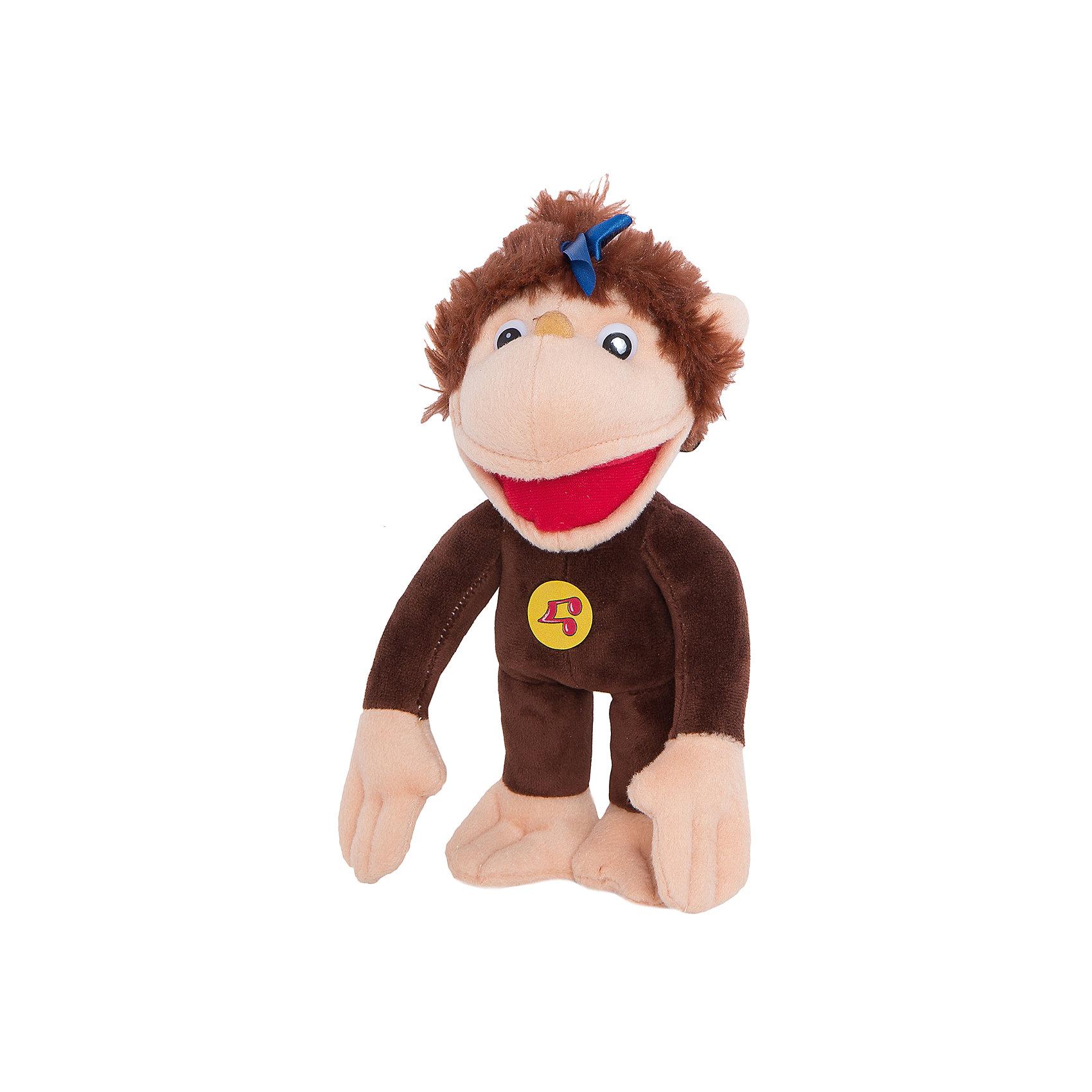 Мартышка (38 Попугаев), 28 см, со звуком, МУЛЬТИ-ПУЛЬТИМягкая игрушка Мартышка 38 попугаев со звуком от марки МУЛЬТИ-ПУЛЬТИ<br><br>Говорящая мягкая игрушка от отечественного производителя сделана в виде известного персонажа из мультфильма. Она поможет ребенку проводить время весело и с пользой. В игрушке есть встроенный звуковой модуль, который позволяет мартышке произносить фразы из мультфильма 38 попугаев.<br>Размер игрушки универсален - 28 сантиметров, её удобно брать с собой в поездки и на прогулку. Сделана мартышка из качественных и безопасных для ребенка материалов, которые еще и приятны на ощупь. <br><br>Отличительные особенности игрушки:<br><br>- материал: текстиль, пластик;<br>- звуковой модуль;<br>- язык: русский;<br>- произносит фразы из мультфильма;<br>- работает на батарейках;<br>- высота: 28 см.<br><br>Мягкую игрушку Мартышка 38 попугаев от марки МУЛЬТИ-ПУЛЬТИ можно купить в нашем магазине.<br><br>Ширина мм: 170<br>Глубина мм: 180<br>Высота мм: 360<br>Вес г: 330<br>Возраст от месяцев: 12<br>Возраст до месяцев: 72<br>Пол: Женский<br>Возраст: Детский<br>SKU: 2149216