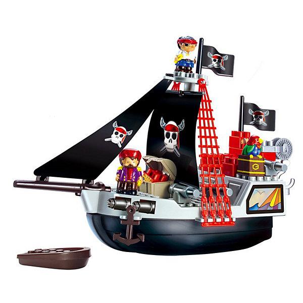 Ecoiffier Конструктор Пиратский корабльИдеи подарков<br>Ecoiffier Конструктор Пиратский корабль - большой пиратский корабль с аксессуарами.<br> <br>Конструктор включает в себя 29 элементов : большой корабль, лодку, сундук с сокровищами, блоки для конструирования, а также фигурки 2х пиратов. <br><br>Дополнительная информация:<br><br>- Материалы: высококачественная пластмасса.<br>- Отсутствие мелких деталей.<br>- Яркие цвета привлекают детей.<br>- Размер корабля: 48,5 х 19 х 35 см.<br><br>Отличный подарок для мальчишек от 1,5 до 7 лет.<br>Ширина мм: 505; Глубина мм: 375; Высота мм: 116; Вес г: 880; Возраст от месяцев: 18; Возраст до месяцев: 48; Пол: Мужской; Возраст: Детский; SKU: 2149460;