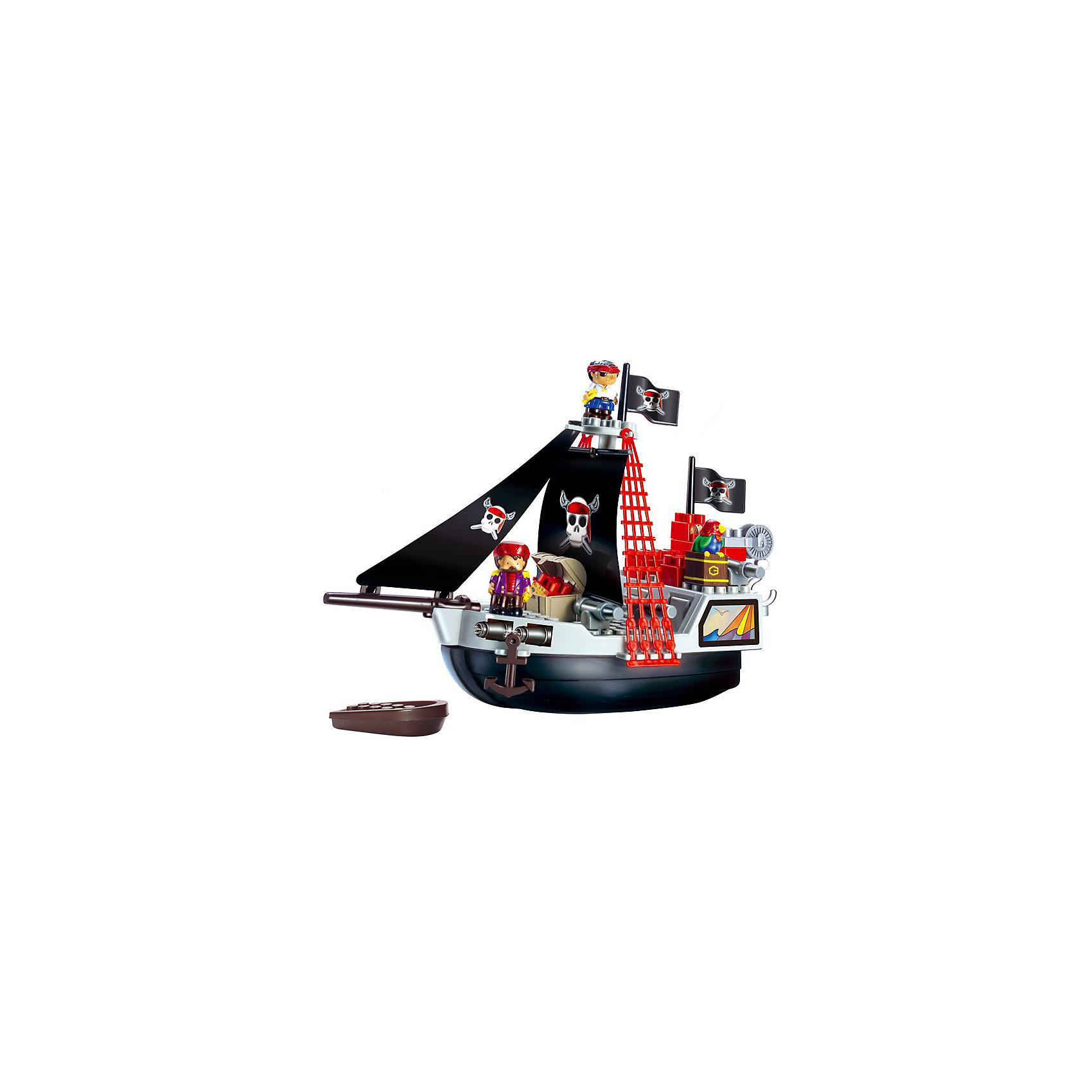 Ecoiffier Конструктор Пиратский корабльEcoiffier Конструктор Пиратский корабль - большой пиратский корабль с аксессуарами.<br> <br>Конструктор включает в себя 29 элементов : большой корабль, лодку, сундук с сокровищами, блоки для конструирования, а также фигурки 2х пиратов. <br><br>Дополнительная информация:<br><br>- Материалы: высококачественная пластмасса.<br>- Отсутствие мелких деталей.<br>- Яркие цвета привлекают детей.<br>- Размер корабля: 48,5 х 19 х 35 см.<br><br>Отличный подарок для мальчишек от 1,5 до 7 лет.<br><br>Ширина мм: 505<br>Глубина мм: 375<br>Высота мм: 116<br>Вес г: 913<br>Возраст от месяцев: 18<br>Возраст до месяцев: 48<br>Пол: Мужской<br>Возраст: Детский<br>SKU: 2149460