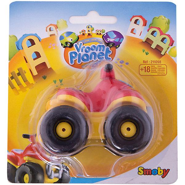 Smoby Мини-джипМашинки<br>Мини джип Smoby - забавная глазастая машинка из пластика, которая порадует вашего кроху своими яркими цветами, большими колесами, защитным бампером впереди и рулем, как у квадроцикла. Джип с радостью покатает подходящую по размеру игрушку со всей доступной ему скоростью.  Даже если малыш решит устроить этой машине настоящие гонки на выживание, прочный пластик выдержит многое. В  мини джипе нет мелких деталей, острых углов. У машинки обтекаемая круглая форма, благодаря чему ее удобно держать в маленькой ручке, колесики у машинки крутятся, не снимаются. Игрушку можно брать с собой в ванную. Ваш малыш оценит по достоинству прочный и удобный джип, он станет одним из любимых в коллекции машинок. <br>Машинка способствует развитию у вашего ребенка фантазии, мелкой моторики, речи. Ее можно везде брать с собой - машинка не занимает много места, а в пути ребенку не будет скучно. <br><br>Дополнительная информация: <br><br>- материал : прочный пластик<br>- размер игрушки:  8*6*6,5 см.<br>- размер упаковки:<br>- длина:  14 см.<br>- ширина:  7 см.<br>- высота:  13 см. <br>- вес:  0.065 кг.<br><br>Мини джип  Smoby можно купить в нашем интернет-магазине<br><br>Ширина мм: 130<br>Глубина мм: 60<br>Высота мм: 140<br>Вес г: 64<br>Возраст от месяцев: 18<br>Возраст до месяцев: 48<br>Пол: Мужской<br>Возраст: Детский<br>SKU: 2149487