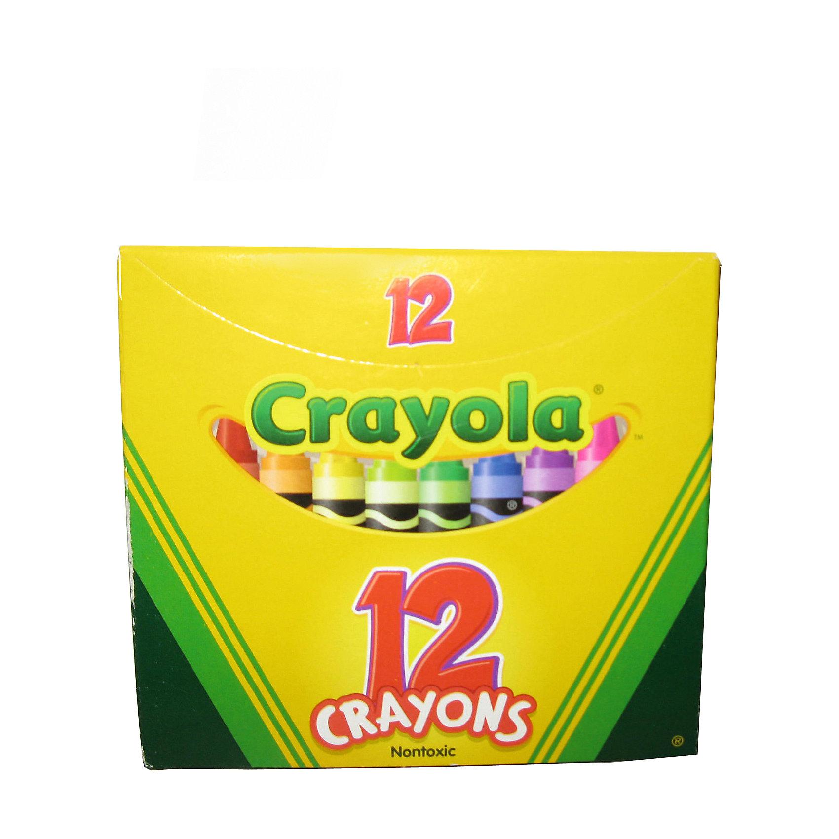 Набор из 12 разноцветных восковых мелков, CrayolaНабор из 12 разноцветных восковых мелков от Crayola (Крайола) обязательно порадует каждого ребёнка, ведь все дети так любят рисовать! Набор идеален для творческого развития вашего ребенка.<br><br>Мелки отлично передают цвета и не ломаются. Восковыми мелками можно рисовать на бумаге, картоне и дереве. Шерховатая поверхность больше не будет помехой для рисунков ребёнка, а если он захочет изменить свой рисунок, то сможет легко стереть ненужные линии ластиком!<br><br>Мелки фирмы Crayola (Крайола) изготовлены из натурального пчелиного воска с добавлением растительных красителей - они абсолютно безвредны для ваших детей. Их можно смыть тёплой водой с рук, любых поверхностей и одежды.<br><br>Набор из 12 разноцветных восковых мелков от Crayola (Крайола) можно купить в нашем интернет-магазине.<br><br>Дополнительная информация:<br>В набор входит: 12 цветных восковых мелков<br>Длина мелка: 9,5 см<br>Размер упаковки: 10,5 x 10 x 1 см<br><br>Ширина мм: 170<br>Глубина мм: 265<br>Высота мм: 35<br>Вес г: 800<br>Возраст от месяцев: 36<br>Возраст до месяцев: 1188<br>Пол: Унисекс<br>Возраст: Детский<br>SKU: 2149649
