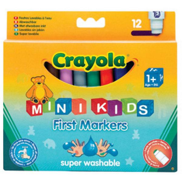 Набор из 12 цветных фломастеров для малышей, CrayolaФломастеры<br>Набор из 12 цветных фломастеров от Crayola (Крайола) - это отличный выбор для тех, кто хочет с детства развивать творческие способности в своих детях.<br><br>Все малыши хотят нарисовать сказочных героев или волшебную страну. Но мамы всегда беспокоятся о том, безопасны ли фломастеры для малышей и можно ли отмыть рисунки с рук или одежды своих детей.<br><br>Цветные фломастеры от Crayola (Крайола) специально созданы для самых маленьких, учитывая также пожелания их родителей.<br><br>Чернила в фломастерах изготовлены на водной основе. Преимущества таких фломастеров:<br>- они смываются с кожи, одежды и твердых поверхностей теплой водой с мылом;<br>- если фломастер засох, достаточно опустить его в стакан с теплой водой на несколько минут, вытереть, и он готов к использованию.<br><br>Данные фломастерыбезопасны для ребенка:<br>- в них содержатся только безвредные красители;<br>- все колпачки вентилируемые - на случай, если ребенок проглотит колпачок.<br><br>Набор из 12 цветных фломастеров от Crayola (Крайола) можно купить в нашем интернет-магазине.<br>Ширина мм: 187; Глубина мм: 170; Высота мм: 100; Вес г: 180; Возраст от месяцев: 12; Возраст до месяцев: 72; Пол: Унисекс; Возраст: Детский; SKU: 2149668;