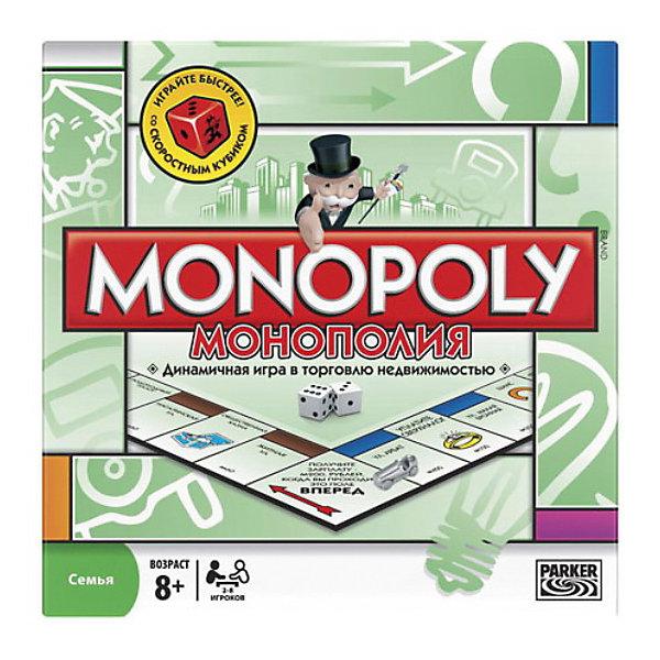 Игра Монополия, HasbroХиты продаж<br>Настольная игра Монополия, обучающая торговле недвижимостью. <br><br>Ваш успех зависит от удачных сделок, дальновидных капиталовложений и разумных договоров. Даже если удача отвернётся от Вас, Вы сможете поправить свои дела, получив ссуду под залог имущества или заключив сделку с другими игроками. Став самым богатым игроком, т.е. будучи в состоянии скупить всю собственность, Вы приобретаете Монополию и выигрываете!<br><br><br>Дополнительная информация:<br><br>- Содержимое: 1 игровое поле, 10 игральных фишек, 28 карточек-документов на право собственности, 16 карточек «Шанс», 16 карточек Общей казны, 1 комплект специальных денег для Монополии, 32 Дома, 12 Отелей, 2 Игральных кубика.<br>- Для 2-8 игроков. <br>- Игра на русском языке.<br><br>Ширина мм: 50<br>Глубина мм: 400<br>Высота мм: 270<br>Вес г: 970<br>Возраст от месяцев: 96<br>Возраст до месяцев: 1188<br>Пол: Унисекс<br>Возраст: Детский<br>SKU: 2149673