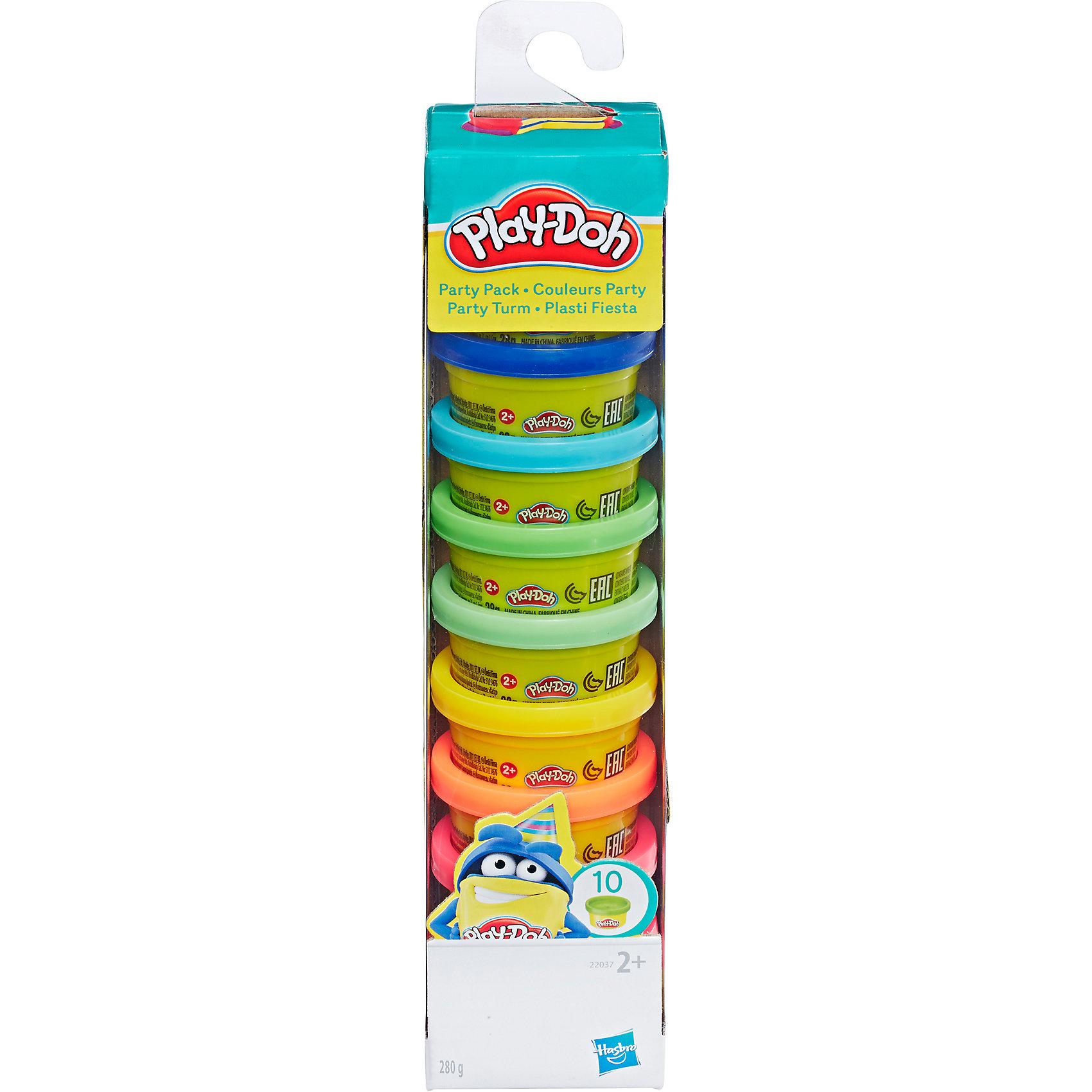 Башня для вечеринки Play-DohПластилин<br>Башня для вечеринки Play-Doh от Hasbro.  Самые невероятные формы и причудливые очертания - даёшь развлечение на детском празднике! С пластилином Плей-До от компании  Hasbro ребенок научиться творить шедевры! <br>Когда у ребенка разыгрывается воображение, нескольких цветов пластилина может быть недостаточно. Однако набор  Башня для вечеринки Play-Doh решит эту проблему – 10 цветов точно будет достаточно для веселой лепки! Цвета можно смешивать для получения невероятных оттенков. <br><br>Дополнительная информация: <br><br>- В комплект входит 10 пластиковых ёмкостей разноцветного пластилина Play-Doh, по 26 г. в каждой баночке. <br>- Пластилин изготавливается только из безопасных ингредиентов, с использованием пшеницы и натуральных красителей. <br>- Не крошится и не ломается, обладает мягкой консистенцией, не прилипает к мебели и полу. <br>- Срок хранения в закрытых баночках:  5 лет. <br>- При длительном хранении на открытом воздухе пластилин может затвердеть, при этом он легко вновь становится пластичным при смачивании тёплой водой. Лепка из пластилина Play-Doh развивает мелкую моторику, координацию, стимулирует речевые центры, учит малыша различать текстуру, запах и цвет, и ничего страшного, если ребенок попробует его на вкус! <br><br>Башню для вечеринки Play-Doh (Плей-До) можно приобрести в нашем магазине.<br><br>Ширина мм: 231<br>Глубина мм: 53<br>Высота мм: 55<br>Вес г: 371<br>Возраст от месяцев: 24<br>Возраст до месяцев: 72<br>Пол: Унисекс<br>Возраст: Детский<br>SKU: 2149726