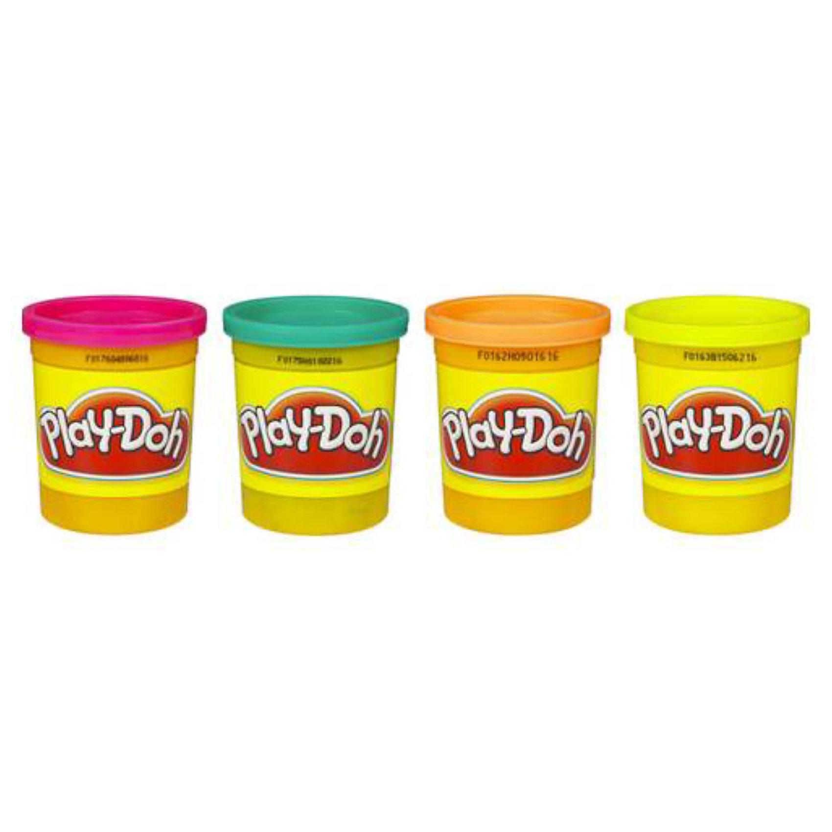Пластилин в 4-х банках, Play-DohНабор пластилина Play Doh из 4-х баночек - оптимальный вариант для тех, кто только знакомится с лепкой. Если четырёх базовых цветов не хватает для реализации вашей задумки, смело смешивайте их и получайте нужный оттенок! С пластилином Плей-До лепить  просто и весело, он очень пластичен и создан из экологичных материалов.  <br><br>Дополнительная информация:<br><br>- Комплект из четырех банок<br>- Цвета: розовый, бирюзовый, оранжевый, желтый, фиолетовый, зеленый, красный, голубой, синий, светло-розовый, золотистый.<br>- Размер упаковки: 70 х 277 х 80 мм<br>- Вес каждой банки: 130 г<br><br>Внимание! Данный товар представлен в ассортименте, к сожалению,  выбрать заранее определенный вид не представляется возможным. При заказе 2-х возможно получение одинаковых.<br><br>Пластилин в 4-х банках, в ассорт., Play-Doh можно купить в нашем магазине.<br><br>Ширина мм: 100<br>Глубина мм: 100<br>Высота мм: 100<br>Вес г: 1000<br>Возраст от месяцев: 36<br>Возраст до месяцев: 108<br>Пол: Унисекс<br>Возраст: Детский<br>SKU: 2149727