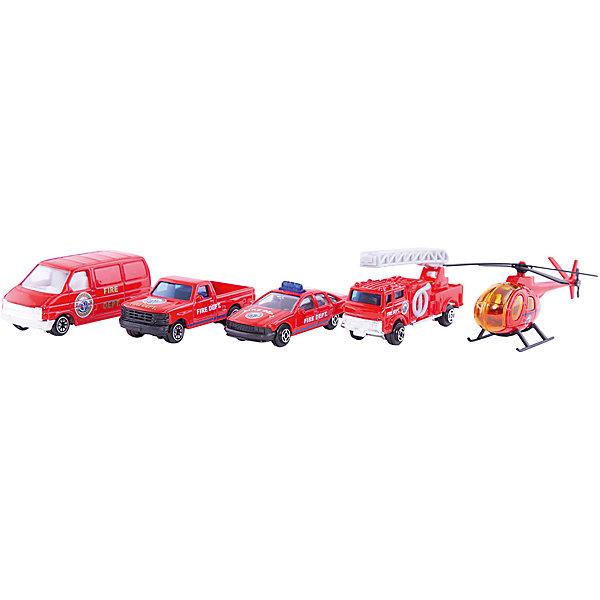 Welly Набор Пожарная команда 5 штукМашинки<br>Welly Набор Пожарная команда 5 штук<br><br>Характеристики:<br><br>• Возраст: от 4 лет<br>• В комплекте: пикап, вертолет, фургон, легковая и пожарная машины<br>• Материал: металл, пластик<br>• Цвет: красный<br><br>Игровой набор включает в себя уменьшенную копию пожарной машины, легковой служебный автомобиль, пикап, фургон и вертолет. Все это поможет ребенку создать целый спектакль. Все игрушки сделаны из качественного материала, который не только безопасен для ребенка, но еще и очень крепок. <br><br>Welly Набор Пожарная команда 5 штук можно купить в нашем интернет-магазине.<br>Ширина мм: 40; Глубина мм: 110; Высота мм: 310; Вес г: 229; Возраст от месяцев: 84; Возраст до месяцев: 1188; Пол: Мужской; Возраст: Детский; SKU: 2150005;