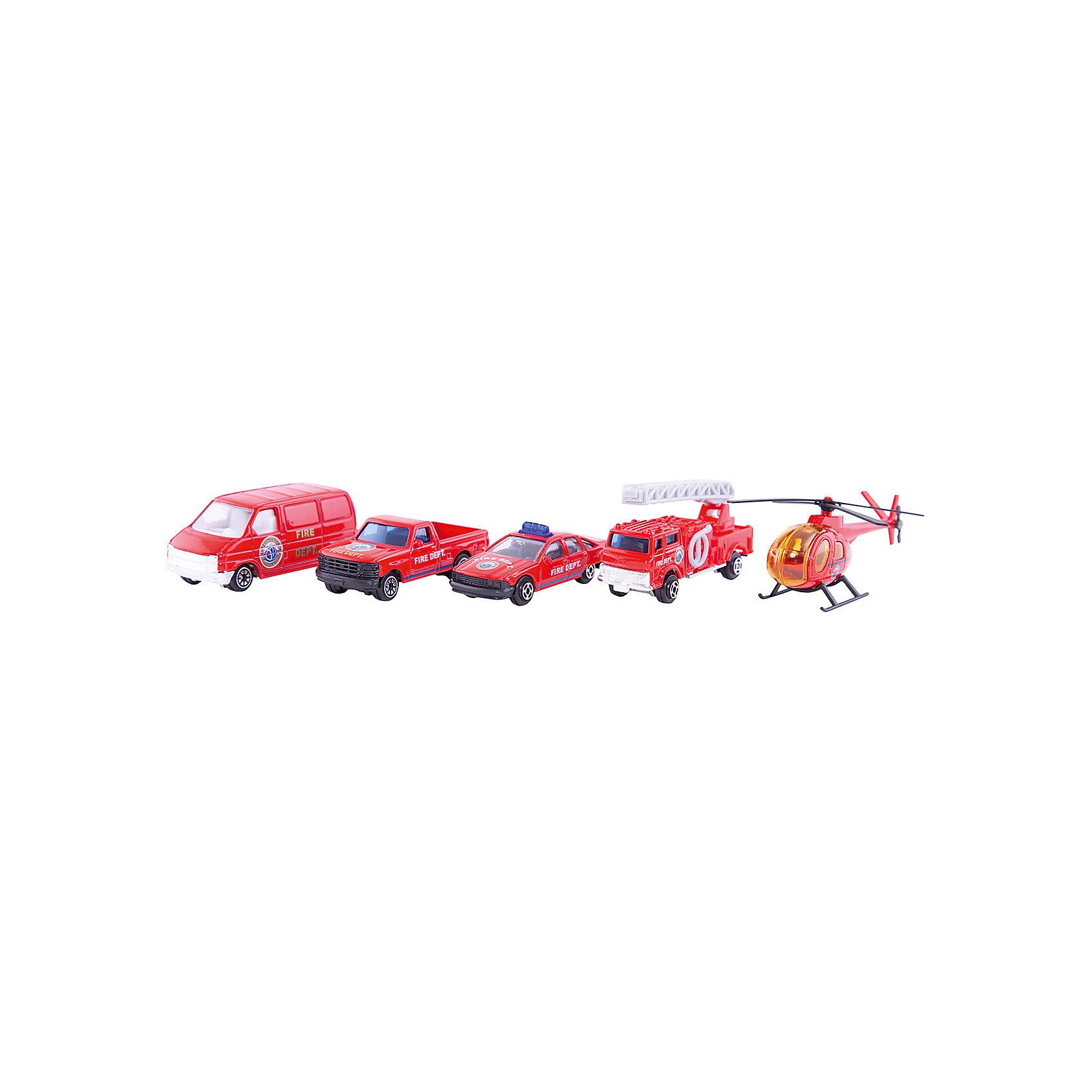 Welly Набор Пожарная команда 5 штукИгровые наборы<br>Welly Набор Пожарная команда 5 штук<br><br>Характеристики:<br><br>• Возраст: от 4 лет<br>• В комплекте: пикап, вертолет, фургон, легковая и пожарная машины<br>• Материал: металл, пластик<br>• Цвет: красный<br><br>Игровой набор включает в себя уменьшенную копию пожарной машины, легковой служебный автомобиль, пикап, фургон и вертолет. Все это поможет ребенку создать целый спектакль. Все игрушки сделаны из качественного материала, который не только безопасен для ребенка, но еще и очень крепок. <br><br>Welly Набор Пожарная команда 5 штук можно купить в нашем интернет-магазине.<br><br>Ширина мм: 40<br>Глубина мм: 110<br>Высота мм: 310<br>Вес г: 229<br>Возраст от месяцев: 84<br>Возраст до месяцев: 1188<br>Пол: Мужской<br>Возраст: Детский<br>SKU: 2150005