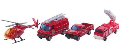 Welly Набор Служба спасения - пожарная команда 4 штуки