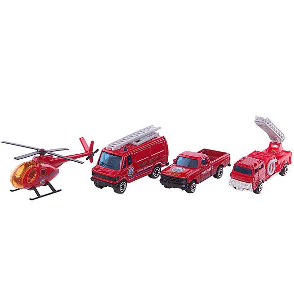 Welly Набор Служба спасения - пожарная команда  4 штукиМашинки<br>Welly Набор Служба спасения - пожарная команда 4 штуки<br><br>Характеристики:<br><br>• Возраст: от 4 лет<br>• В комплекте: вертолет, фургон, легковая и пожарная машины<br>• Материал: металл, пластик<br>• Цвет: красный<br><br>Игровой набор включает в себя уменьшенную копию пожарной машины, легковой служебный автомобиль, фургон и вертолет. Все это поможет ребенку создать целый спектакль. Все игрушки сделаны из качественного материала, который не только безопасен для ребенка, но еще и очень крепок. <br><br>Welly Набор Служба спасения - пожарная команда 4 штуки можно купить в нашем интернет-магазине.<br><br>Ширина мм: 35<br>Глубина мм: 210<br>Высота мм: 150<br>Вес г: 206<br>Возраст от месяцев: 84<br>Возраст до месяцев: 1188<br>Пол: Мужской<br>Возраст: Детский<br>SKU: 2150015