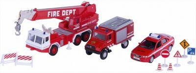 Welly Набор машин Пожарная служба 10 штук