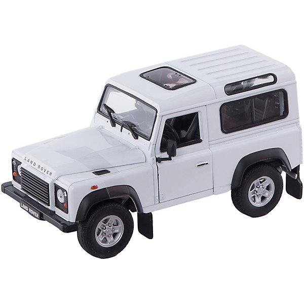 Welly Модель машины 1:24 Land Rover DefenderМашинки<br>Характеристики модели машины 1:24 Land Rover Defender:<br><br>- возраст: от 5 лет<br>- пол: для мальчиков<br>- модель: Land Rover Defender.<br>- цвет: бежевый.<br>- масштаб: 1:24.<br>- из чего сделана игрушка (состав): металл, пластмасса.<br>- размер упаковки: 24 * 8 * 20 см.<br><br>Модель машины 1:24 Land Rover Defender – это коллекционная модель машинки, у которой открываются дверцы, капот, багажник, крутиться руль и поворачиваются колёса. Шины изготовлены из прорезиненного материала.<br><br>Модель машины 1:24 Land Rover Defender торговой марки Welly можно купить в нашем интернет-магазине.<br><br>Ширина мм: 100<br>Глубина мм: 230<br>Высота мм: 120<br>Вес г: 577<br>Возраст от месяцев: 84<br>Возраст до месяцев: 1188<br>Пол: Мужской<br>Возраст: Детский<br>SKU: 2150094
