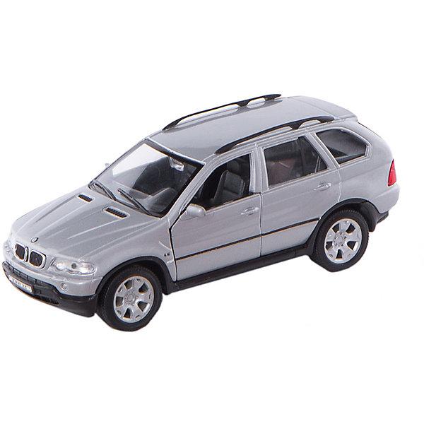 Модель машины 1:31 BMW X5, WellyМашинки<br>Модель машины BMW X5, Welly (Велли) станет замечательным подарком для автолюбителей и коллекционеров всех возрастов. В коллекции масштабных моделей Welly представлено все многообразие автотехники: ретро-автомобили, легковые автомобили различных марок, грузовики, автомобили городских служб и многое другое. Все машинки отличаются высокой степенью детализации и тщательной проработкой всех элементов.<br><br>Машинка BMW X5 представляет собой точную копию настоящего автомобиля в масштабе 1:31. Впервые внедорожник BMW X5 была представлен в 1999 году на автосалоне в Детройте, автомобиль сочетает в себе комфорт, динамику и высокие качества внедорожника. Модель от Welly оснащена прочными стеклами и зеркалами заднего вида, интерьер салона и органы управления тщательно проработаны. Передние двери открываются, руль не вращается. Автомобиль снабжен инерционным механизмом, ускоряется при толчке. Корпус модели выполнен из металла, а отделка салона и декоративные элементы из пластика.<br><br>Дополнительная информация:<br><br>- Материал: металл, пластик, колеса прорезиненные.<br>- Масштаб: 1:31.<br>- Размер модели: 4 х 14 х 5 см. <br>- Размер упаковки: 8 х 18 х 8 см.<br>- Вес: 0,3 кг. <br><br>Модель машины BMW X5, Welly можно купить в нашем интернет-магазине.<br><br>Ширина мм: 185<br>Глубина мм: 80<br>Высота мм: 80<br>Вес г: 310<br>Возраст от месяцев: 36<br>Возраст до месяцев: 192<br>Пол: Мужской<br>Возраст: Детский<br>SKU: 2150113