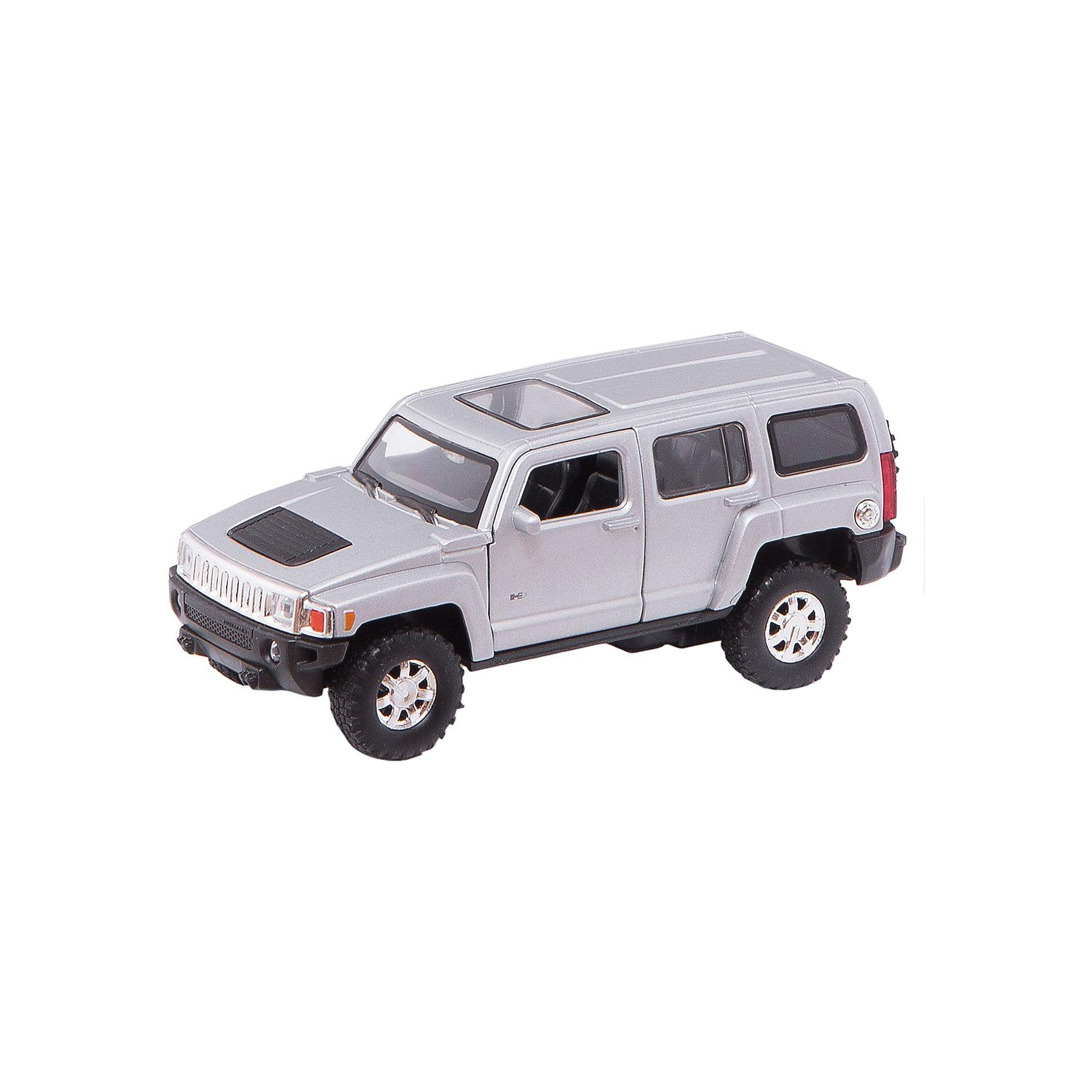 Welly Модель машины 1:32 HUMMER H3Модель автомобиля масштаба 1:32 инерционная. У машинки открываются двери.<br><br>Дополнительная информация:<br><br>- размер: 18 х 8 х 7 см.<br>- открываются передние двери, руль не вращается<br>- салон детализирован<br>- стекла прочные, небьющиеся <br>- литой металлический корпус <br>- инерционный механизм<br><br>ВНИМАНИЕ: Данный артикул представлен в различных цветовых исполнениях. К сожалению, заранее выбрать определенный цвет невозможно.<br><br>Welly Модель машины 1:32 HUMMER H3 можно купить в нашем магазине.<br><br>Ширина мм: 180<br>Глубина мм: 80<br>Высота мм: 85<br>Вес г: 278<br>Возраст от месяцев: 84<br>Возраст до месяцев: 1188<br>Пол: Мужской<br>Возраст: Детский<br>SKU: 2150116
