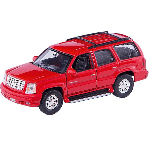 Welly Модель машины 1:34-39 2002 Cadillac EscaladeМашинки<br>Характеристики модели машины 1:34-39 2002 Cadillac Escalade:<br><br>- бренд: Welly<br>- возраст: от 3 лет<br>- пол: для мальчиков<br>- модель: Cadillac Escalade 2002.<br>- цвет: черный / красный / белый / серебристый.<br>- масштаб: 1:34-39.<br>- комплект: 1 машинка.<br>- материал: металл, пластик, резина.<br>- размер упаковки: 15 * 11 * 6 см.<br>- размер игрушки: 12 * 5 * 4.5 см.<br>- упаковка: коробка с дисплеем.<br><br>Внедорожник класса «люкс» Cadillac Escalade 2002 — автомобиль внушительных габаритов. Уменьшенная копия от торговой марки Welly точно передает дизайн настоящей машины. Изделие очень функционально — с помощью инерционного механизма оно уедет далеко вперед, если слегка потянуть ее на себя. Модель отличается аккуратной и качественной проработкой салона и наличием искусно выполненных деталей, таких как решетка радиатора, фары, рейлинги и др.<br><br>Модель машины Cadillac Escalade торговой марки Welly можно купить в нашем интернет-магазине.<br>Ширина мм: 150; Глубина мм: 60; Высота мм: 110; Вес г: 175; Возраст от месяцев: 84; Возраст до месяцев: 1188; Пол: Мужской; Возраст: Детский; SKU: 2150117;