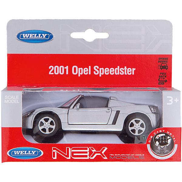Welly Модель машины 1:34-39  OPEL SPEEDSTERМашинки<br>Welly Модель машины 1:34-39  OPEL SPEEDSTER, (Велли)<br><br>Характеристики:<br><br>• двери открываются<br>• инерционный механизм<br>• материал: пластик, металл, резина<br>• размер упаковки: 15х6х12 см<br>• масштаб: 1:34-39<br><br>Уменьшенная копия машины Opel SPEEDSTEP представлена в масштабе 1:34-39. Модель оснащена инерционным механизмом и открывающимися дверцами. Кроме того, игрушка изготовлена из прочных, безвредных материалов для ребенка. Отличный выбор для пополнения детского автопарка!<br><br>Welly Модель машины 1:34-39  OPEL SPEEDSTER, (Велли) вы можете купить в нашем интернет-магазине.<br><br>Ширина мм: 140<br>Глубина мм: 60<br>Высота мм: 60<br>Вес г: 155<br>Возраст от месяцев: 84<br>Возраст до месяцев: 1188<br>Пол: Мужской<br>Возраст: Детский<br>SKU: 2150125