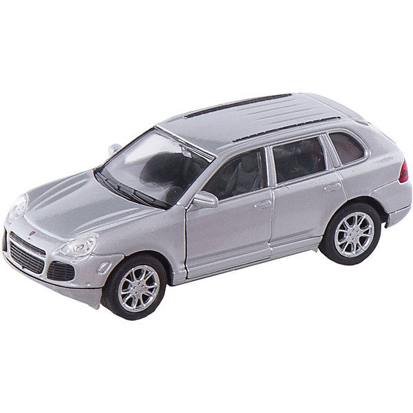 Welly Модель машины 1:34-39 Porsche Cayenne TurboМашинки<br>Welly Модель машины 1:34-39 Porsche Cayenne Turbo<br><br>Характеристики:<br>- Материал: металл, пластик<br>- В комплект входит: 1 машинка<br>- Размер упаковки: 12 * 6 * 15 см.<br>- Вес: 150 гр.<br>Модель машины 1:34-39 Porsche Cayenne Turbo, от известного бренда Welly (Велли) станет отличным сюрпризом для любителей автомобилей. Классический вариант городского авто для всей семьи ультра класса. Полностью соответствуя своей настоящей, эта модель привлекает внимание и создана как для игры, так и для коллекции. У модели имеется возможность открывать только передние двери открываются . Имеет заводной механизм для движения. Кузов и внутренние детали этого хетчбека имеют качественную детализацию, не оставляя равнодушных. Машинка предназначена для развития моторики рук, внимания и воображения.<br>Модель машины 1:34-39 Porsche Cayenne Turbo, Welly (Велли) можно купить в нашем интернет-магазине.<br>Подробнее:<br>• Для детей в возрасте: от 3 до 10 лет <br>• Номер товара: 2150128<br>Страна производитель: Китай<br>Ширина мм: 150; Глубина мм: 60; Высота мм: 115; Вес г: 169; Возраст от месяцев: 84; Возраст до месяцев: 144; Пол: Мужской; Возраст: Детский; SKU: 2150128;