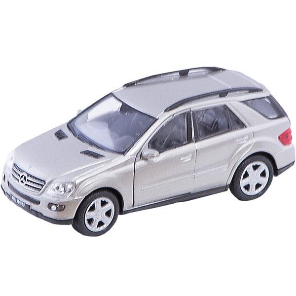 Welly Модель машины 1:34-39 Mercedes-Benz ML350Машинки<br>Welly Модель машины 1:34-39 Mercedes-Benz ML350<br><br>Характеристики:<br>- Материал: металл, пластик<br>- В комплект входит: 1 машинка<br>- Размер упаковки: 12 * 6 * 15 см.<br>- Вес: 150 гр.<br>Модель машины 1:34-39 Mercedes-Benz ML350, от известного бренда Welly (Велли) станет отличным сюрпризом для любителей автомобилей. Классический вариант городского авто для всей семьи. Полностью соответствуя своей настоящей, эта модель привлекает внимание и создана как для игры, так и для коллекции. У модели имеется возможность открывать только передние двери открываются . Имеет заводной механизм для движения. Кузов и внутренние детали этого хетчбека имеют качественную детализацию, не оставляя равнодушных. Машинка предназначена для развития моторики рук, внимания и воображения.<br>Модель машины 1:34-39 Mercedes-Benz ML350, Welly (Велли) можно купить в нашем интернет-магазине.<br>Подробнее:<br>• Для детей в возрасте: от 3 до 10 лет <br>• Номер товара: 2150140<br>Страна производитель: Китай<br><br>Ширина мм: 145<br>Глубина мм: 60<br>Высота мм: 115<br>Вес г: 178<br>Возраст от месяцев: 84<br>Возраст до месяцев: 1188<br>Пол: Мужской<br>Возраст: Детский<br>SKU: 2150140