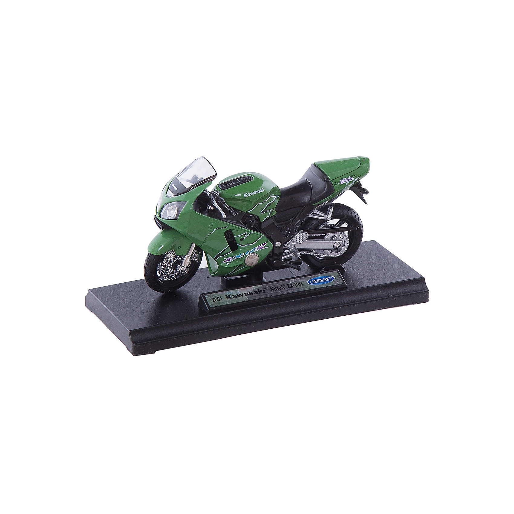 Welly Welly Модель мотоцикла 1:18 MOTORCYCLE / KAWASAKI 2001 NINJA  ZX-12R fit for kawasaki ninja zx10r zx 10r 2008 2009 2010 08 09 10 motorcycle fairing kit high quality abs plastic injection mold black