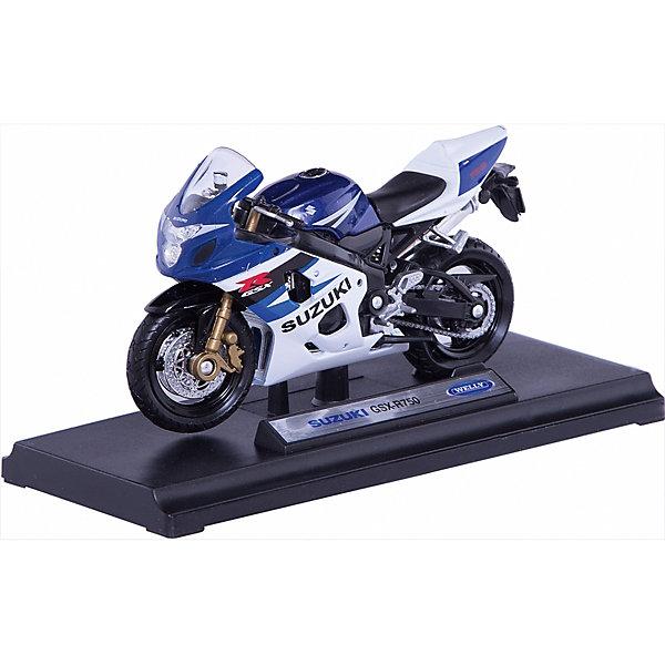 Welly Модель мотоцикла 1:18 MOTORCYCLE / SUZUKI GSX-R750Машинки<br>Welly Модель мотоцикла 1:18 MOTORCYCLE / SUZUKI GSX-R750<br><br>Характеристика:<br><br>-Размер : 17х7х11 см<br>-Вес: 0,2 кг<br>-Для мальчиков<br>-Возраст: от 3 лет<br>-Материал: пластик, металл, резина<br>-Цвет: белый с рисунком<br>-Бренд: Welly<br>-Производитель: Китай<br><br>Мотоцикл модели MOTORCYCLE / SUZUKI GSX-R750 понравится юному любителю гонок. С таким мотоциклом игры для вашего ребёнка станут ещё интереснее и реалистичнее, ведь это уменьшённая версия настоящего мотоцикла. Он привлекает своим блеском и цветом. <br><br>Welly Модель мотоцикла 1:18 MOTORCYCLE / SUZUKI GSX-R750 можно приобрести в нашем интернет-магазине.<br><br>Ширина мм: 170<br>Глубина мм: 110<br>Высота мм: 70<br>Вес г: 159<br>Возраст от месяцев: 84<br>Возраст до месяцев: 1188<br>Пол: Мужской<br>Возраст: Детский<br>SKU: 2150169