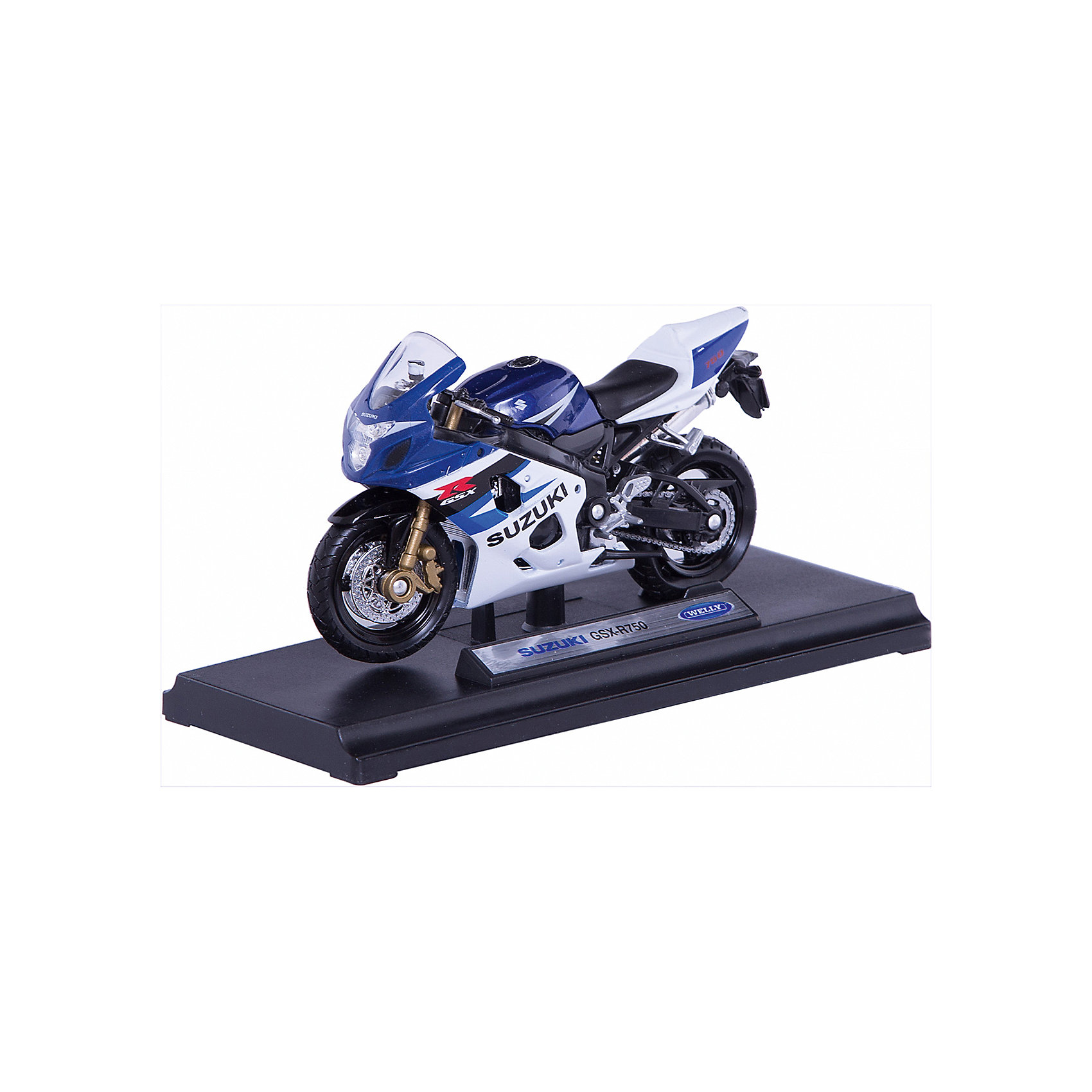 Welly Welly Модель мотоцикла 1:18 MOTORCYCLE / SUZUKI GSX-R750 suzuki gsx r750 motorcycle service repair maintenance shop manual 2004 2015 [cd rom]