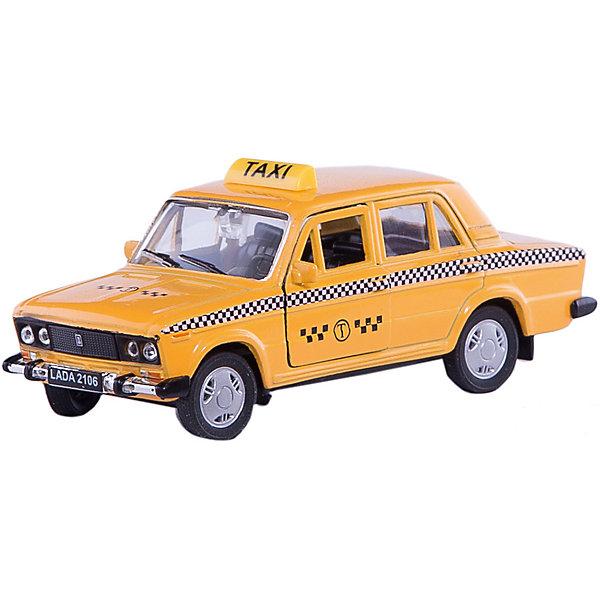 Welly Модель машины 1:34-39 LADA 2106 ТаксиМашинки<br>Welly Модель машины 1:34-39 LADA 2106 Такси<br><br>Характеристики:<br><br>- Размер упаковки: 15х 6х12см.<br>- Материал: металл, пластик<br>- Инерционный механизм.<br>- Вес: 150 г.<br>- Цвет: желтый.<br> <br>Welly Модель машины 1:34-39 LADA 2106 Такси, от известного бренда Welly (Велли) - миниатюрная копия настоящего автомобиля в масштабе 1:34-39. Модель изготовлена из литого металла и пластика. У машинки открывается капот, багажник и двери, а передние колеса можно поворачивать с помощью руля. Игрушка оснащена инерционным ходом. Машинку необходимо отвести назад, затем отпустить - и она быстро поедет вперед. Реалистичный дизайн этой машинки понравится ребенку и машинка станет отличным пополнением коллекции. Машинка предназначена для развития моторики рук, внимания и воображения.<br><br>Модель машины Welly 1:34-39 LADA 2106 Такси, можно купить в нашем интернет – магазине.<br><br>Ширина мм: 60<br>Глубина мм: 140<br>Высота мм: 110<br>Вес г: 185<br>Возраст от месяцев: 84<br>Возраст до месяцев: 1188<br>Пол: Мужской<br>Возраст: Детский<br>SKU: 2150190
