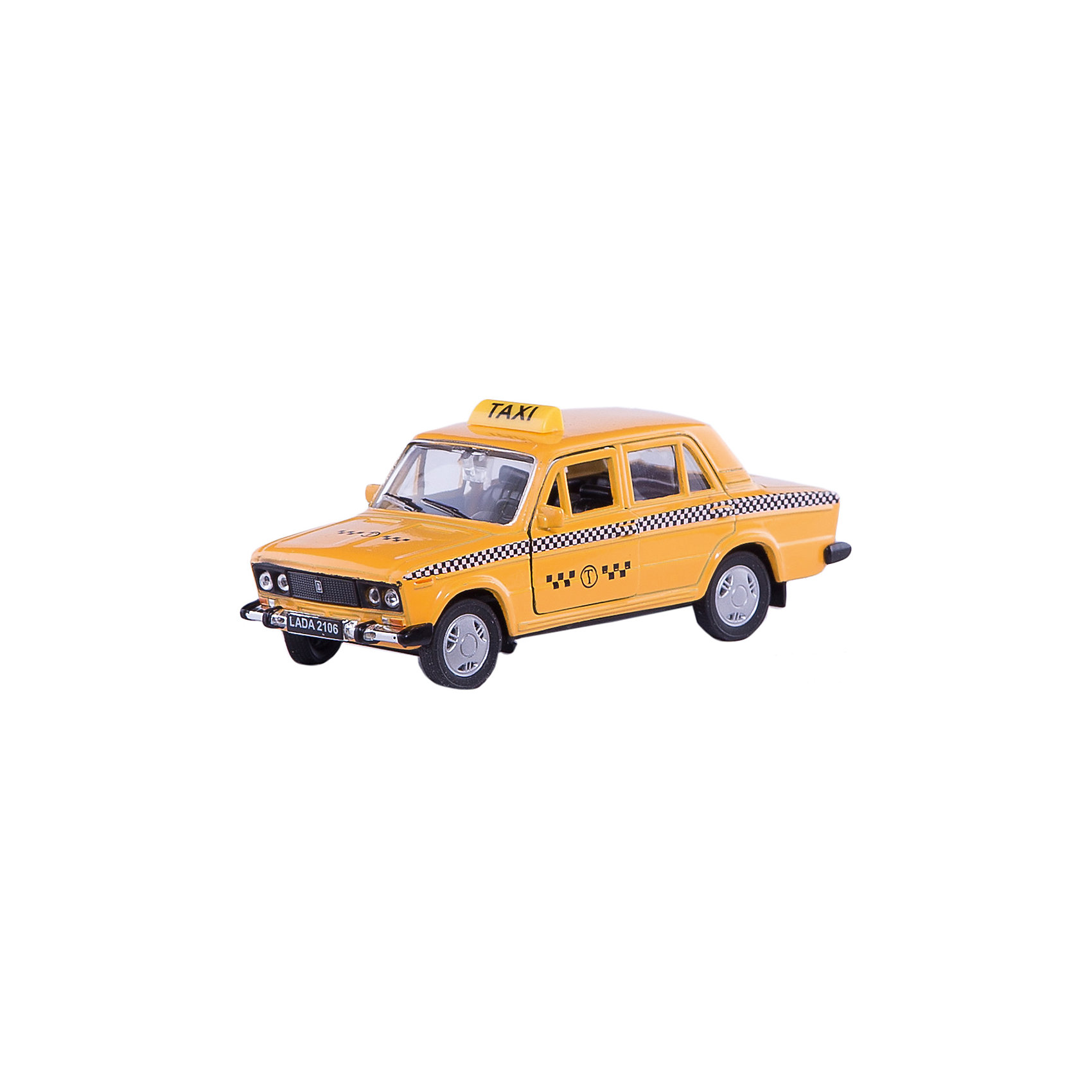 Welly Модель машины 1:34-39 LADA 2106 ТаксиWelly Модель машины 1:34-39 LADA 2106 Такси<br><br>Характеристики:<br><br>- Размер упаковки: 15х 6х12см.<br>- Материал: металл, пластик<br>- Инерционный механизм.<br>- Вес: 150 г.<br>- Цвет: желтый.<br> <br>Welly Модель машины 1:34-39 LADA 2106 Такси, от известного бренда Welly (Велли) - миниатюрная копия настоящего автомобиля в масштабе 1:34-39. Модель изготовлена из литого металла и пластика. У машинки открывается капот, багажник и двери, а передние колеса можно поворачивать с помощью руля. Игрушка оснащена инерционным ходом. Машинку необходимо отвести назад, затем отпустить - и она быстро поедет вперед. Реалистичный дизайн этой машинки понравится ребенку и машинка станет отличным пополнением коллекции. Машинка предназначена для развития моторики рук, внимания и воображения.<br><br>Модель машины Welly 1:34-39 LADA 2106 Такси, можно купить в нашем интернет – магазине.<br><br>Ширина мм: 60<br>Глубина мм: 140<br>Высота мм: 110<br>Вес г: 185<br>Возраст от месяцев: 84<br>Возраст до месяцев: 1188<br>Пол: Мужской<br>Возраст: Детский<br>SKU: 2150190