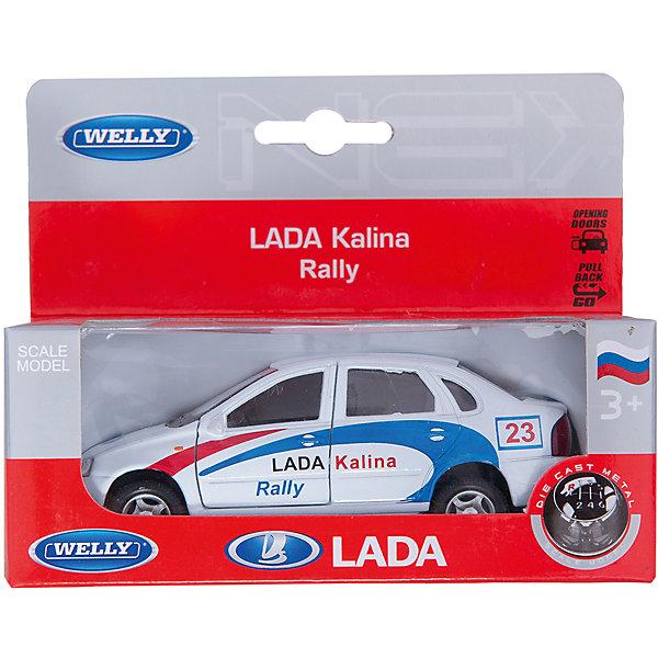 Модель машины 1:34-39 LADA Kalina Rally, WellyМашинки<br>Модель машины 1:34-39 LADA Kalina Rally, Welly<br><br>Характеристики:<br>- Материал: металл, пластик<br>- В комплект входит: 1 машинка<br>- Размер упаковки: 12 * 6 * 15 см.<br>- Вес: 200 гр.<br>Модель машины 1:34-39 LADA Kalina Rally, от известного бренда Welly (Велли) станет отличным сюрпризом для любителей автомобилей. Знаменитая модель отечественного автопрома Лада Калина предназначена для специального типа гонок - ралли. Полностью соответствуя своей настоящей, эта модель привлекает внимание и создана как для игры, так и для коллекции. У модели открываются передние двери. Имеет заводной механизм для движения. Кузов и внутренние детали этой модели имеют качественную детализацию и не оставляют равнодушных. Машинка предназначена для развития моторики рук, внимания и воображения.<br>Модель машины 1:34-39 LADA Kalina Rally, Welly (Велли) можно купить в нашем интернет-магазине.<br>Подробнее:<br>• Для детей в возрасте: от 3 до 10 лет <br>• Номер товара: 2150194<br>Страна производитель: Китай<br>Ширина мм: 150; Глубина мм: 60; Высота мм: 120; Вес г: 184; Возраст от месяцев: 84; Возраст до месяцев: 1188; Пол: Мужской; Возраст: Детский; SKU: 2150194;