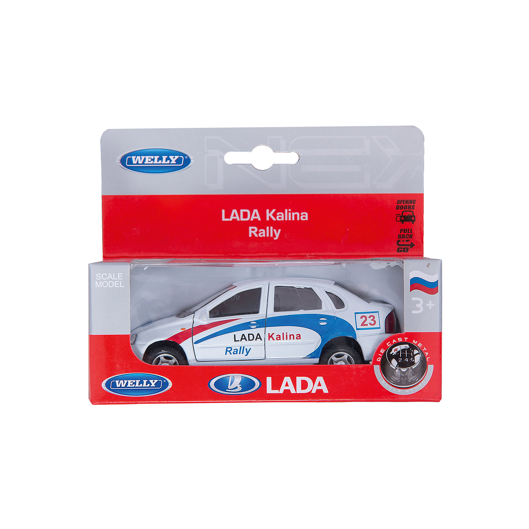 Welly Модель машины 1:34-39 LADA Kalina Rally, Welly автомобиль welly lada kalina rally 1 34 39 белый 42383ry