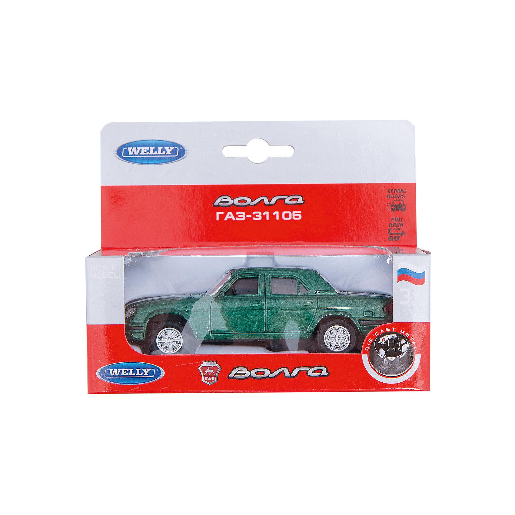 Welly Модель машины ВолгаМашинки<br>Модель автомобиля Волга масштаба 1:34 инерционная. <br><br>У машинки открываются двери.<br><br>Дополнительная информация:<br><br>Материал: металл с элементами пластика.<br><br>Размер упаковки (д/ш/в): 14 х 6 х 11 см.<br><br>Прекрасная модель для автолюбителей.<br><br>Внимание! Данная модель имеет несколько вариантов исполнения, при заказе нескольких моделей возможно получение одинаковых.<br><br>Ширина мм: 140<br>Глубина мм: 60<br>Высота мм: 110<br>Вес г: 160<br>Возраст от месяцев: 84<br>Возраст до месяцев: 1188<br>Пол: Мужской<br>Возраст: Детский<br>SKU: 2150196
