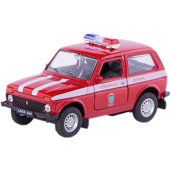 Welly Модель машины 1:34-39 LADA Пожарная охранаМашинки<br>Характеристики модели машины 1:34-39 LADA Пожарная охрана: <br><br>- возраст: от 3 лет<br>- пол: для мальчиков<br>- модель: Lada 4*4.<br>- цвет: красный.<br>- масштаб: 1:34-39.<br>- материал: металл, пластик. <br>- бренд: Welly<br><br>Коллекционная модель Lada 4x4 - Пожарная охрана представляет собой точную копию оригинального внедорожника Нива, выполненную в красном цвете пожарной охраны в масштабе 1:34-39. Игрушка изготовлена из высококачественного металла и пластика и абсолютно безопасна для здоровья. Машинка снабжена инерционным двигателем, благодаря которому она может ездить вперед, ее двери открываются, обнажая взору проработанный пластиковый салон. Вашему ребенку обязательно понравится играть с металлической машинкой Lada 4x4 - Пожарная охрана, и он будет без устали играть с ней, представляя себя спасателем, отправившимся на экстренный вызов. <br><br>Модель машины LADA Пожарная охрана торговой марки Welly можно купить в нашем интернет-магазине.<br><br>Ширина мм: 150<br>Глубина мм: 60<br>Высота мм: 120<br>Вес г: 179<br>Возраст от месяцев: 84<br>Возраст до месяцев: 1188<br>Пол: Мужской<br>Возраст: Детский<br>SKU: 2150211