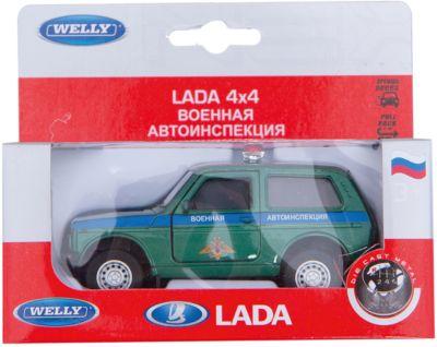 Welly Модель машины 1:34-39 LADA Военная автоиспенкция фото-1
