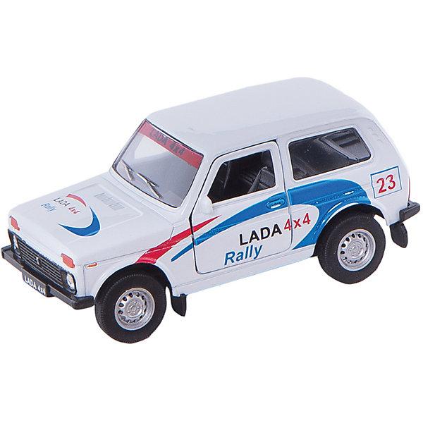 Welly Модель машины 1:34-39 LADA 4x4 RallyМашинки<br>Welly Модель машины 1:34-39 LADA 4x4 Rally<br><br>Характеристика:<br><br>-Размер : 12х3,5 см<br>-Вес: 0,15 кг<br>-Для мальчиков<br>-Возраст: от 3 лет<br>-Материал: пластик, металл, резина<br>-Цвет: белый, синий, красный<br>-Бренд: Welly<br>-Производитель: Китай<br><br>С машиной модели 1:34-39 LADA 4x4 Rally игра для ребёнка станет еще интереснее и реалистичнее. Ведь машина повторяет все тонкости настоящего автомобиля. Она имеет систему открывания передних дверей и инерционный механизм. В процессе игры ребёнок будет развивать фантазия, воображение и моторику рук.<br><br>Welly Модель машины 1:34-39 LADA 4x4 Rally можно приобрести в нашем интернет-магазине.<br>Ширина мм: 150; Глубина мм: 60; Высота мм: 120; Вес г: 193; Возраст от месяцев: 84; Возраст до месяцев: 1188; Пол: Мужской; Возраст: Детский; SKU: 2150215;