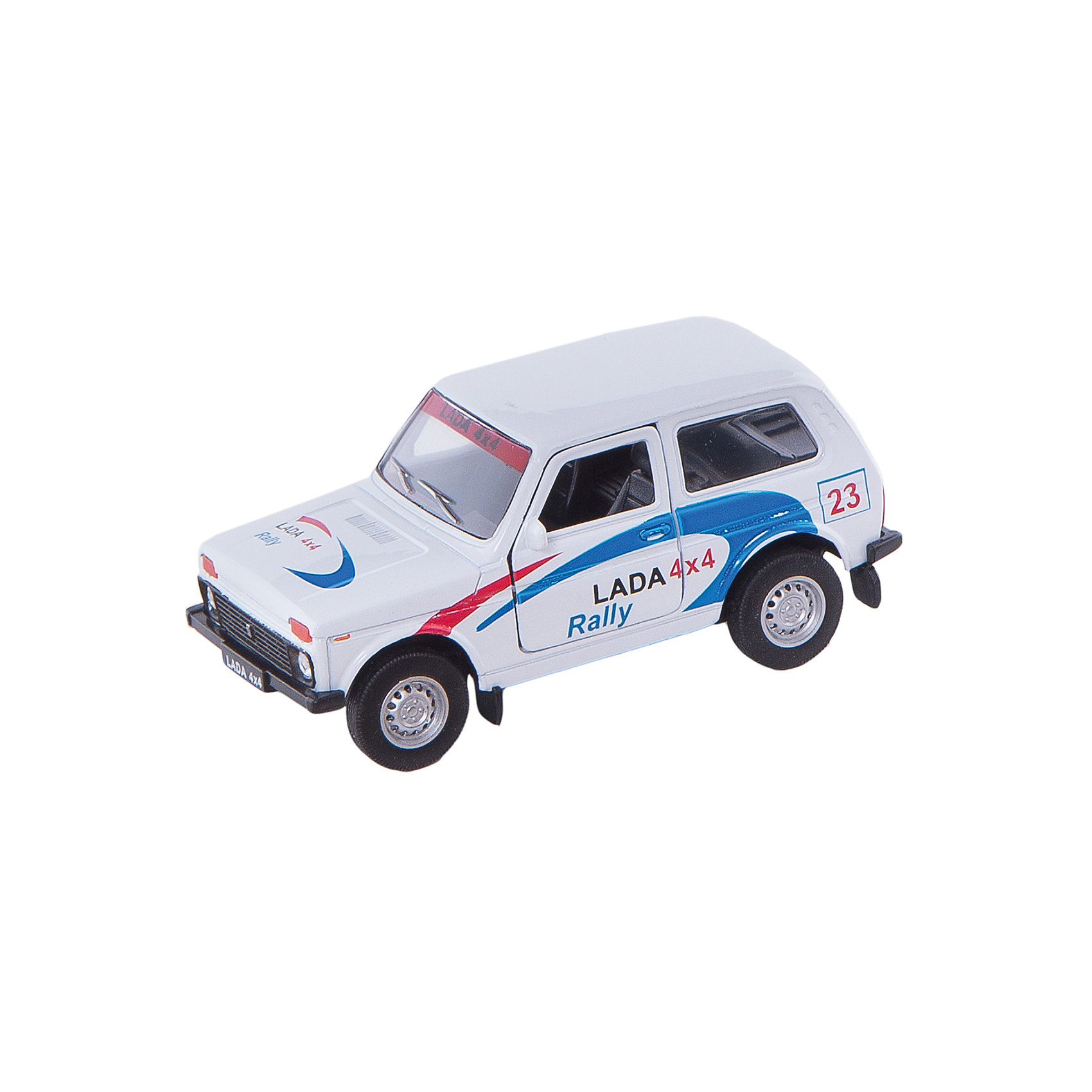 Welly Welly Модель машины 1:34-39 LADA 4x4 Rally welly hummer h3 1 34 39