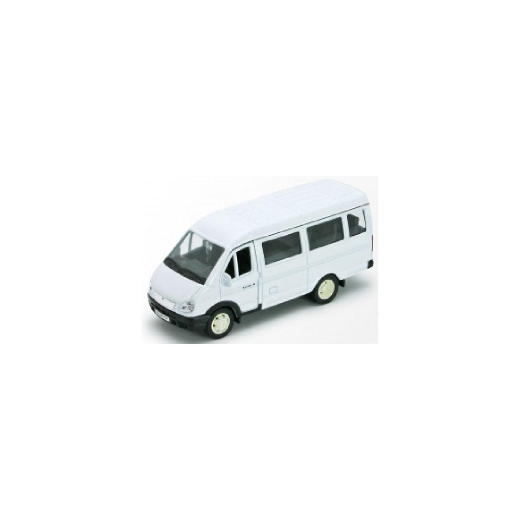 Welly Welly Модель машины ГАЗель пассажирская машинки welly игрушка модель машины автокран