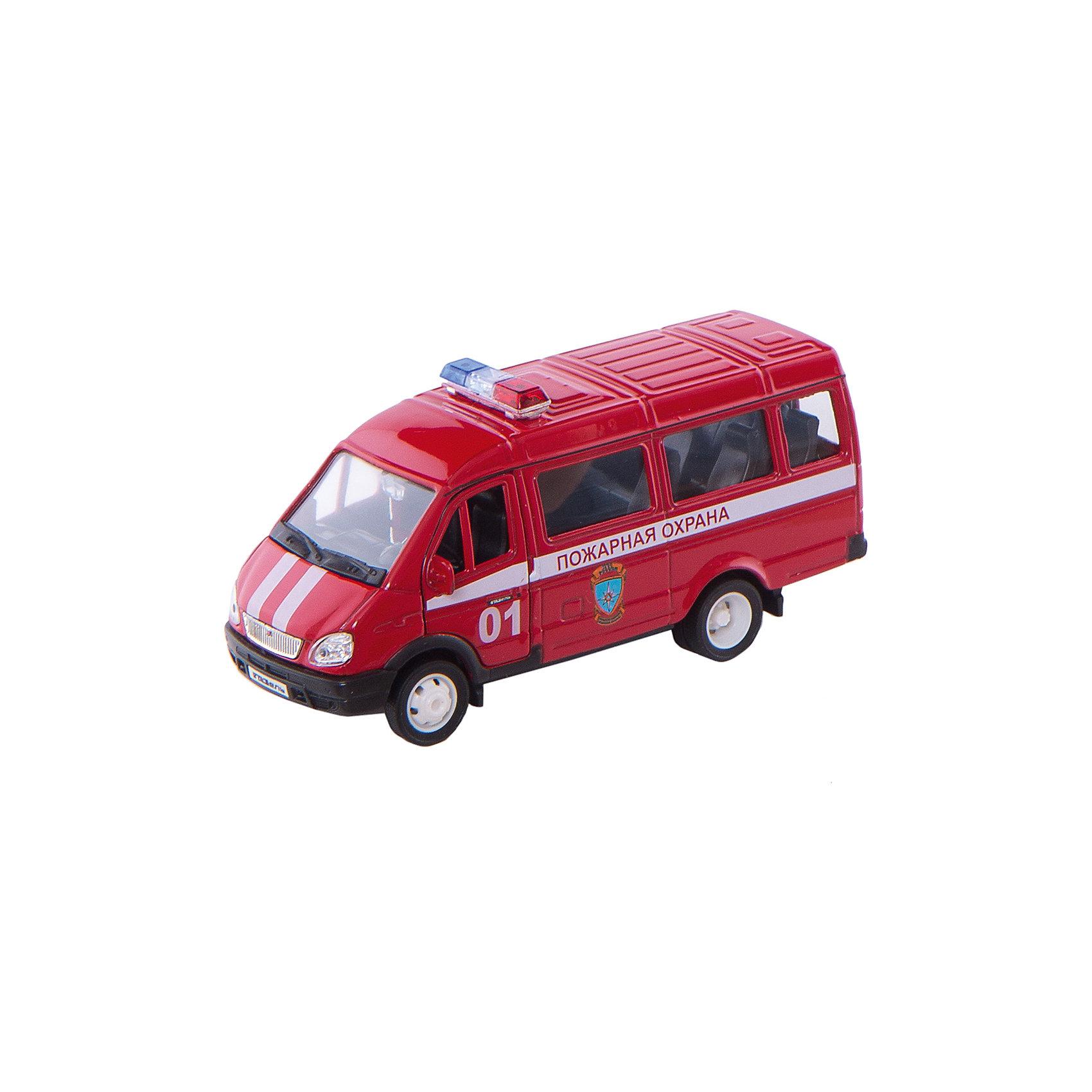 Welly Welly Модель машины ГАЗель Пожарная охрана машинки welly игрушка модель машины автокран
