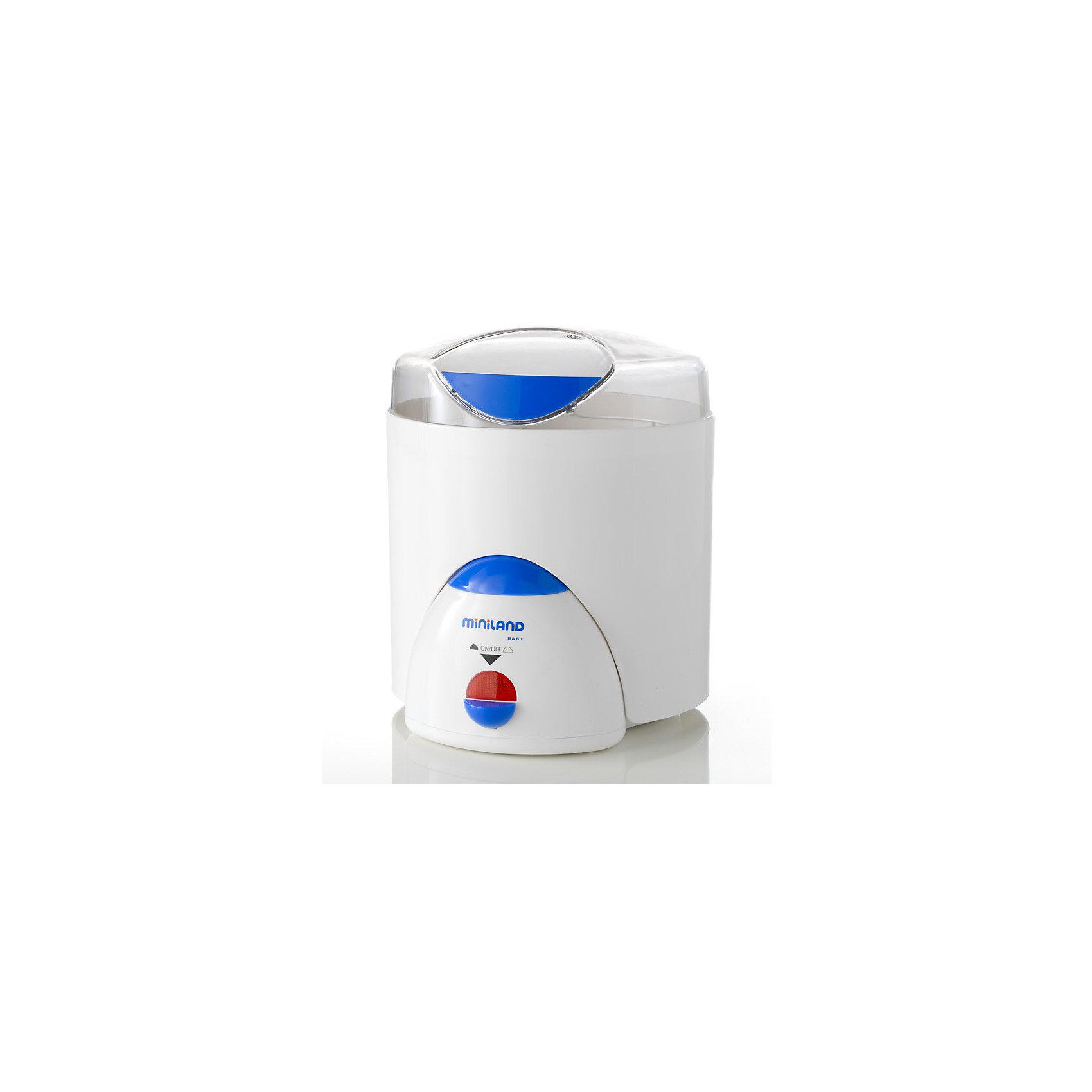 Нагреватель/стерилизатор Super 3 Deco, MinilandОсновные характеристики:<br><br>- Функция подогрева бутылочек<br>- Можно стерилизовать от одной до шести бутылочек за один раз с сосками и принадлежностями<br>- Функция пароварки, удобная подставка для варки яиц<br>- Нагревательная поверхность изготовлена из нержавеющей стали<br>- Легок и прост в использовании и уходе<br>- Удобен при транспортировке и хранении<br>- Используются только экологически чистые материалы<br><br>Габариты ( В х Ш х Г ), см: 22,5x28x23 см  <br>Вес изделия, кг: 1,81 кг<br><br>Ширина мм: 282<br>Глубина мм: 230<br>Высота мм: 234<br>Вес г: 1745<br>Цвет: mehrfarbig<br>Возраст от месяцев: 0<br>Возраст до месяцев: 36<br>Пол: Унисекс<br>Возраст: Детский<br>SKU: 2153901