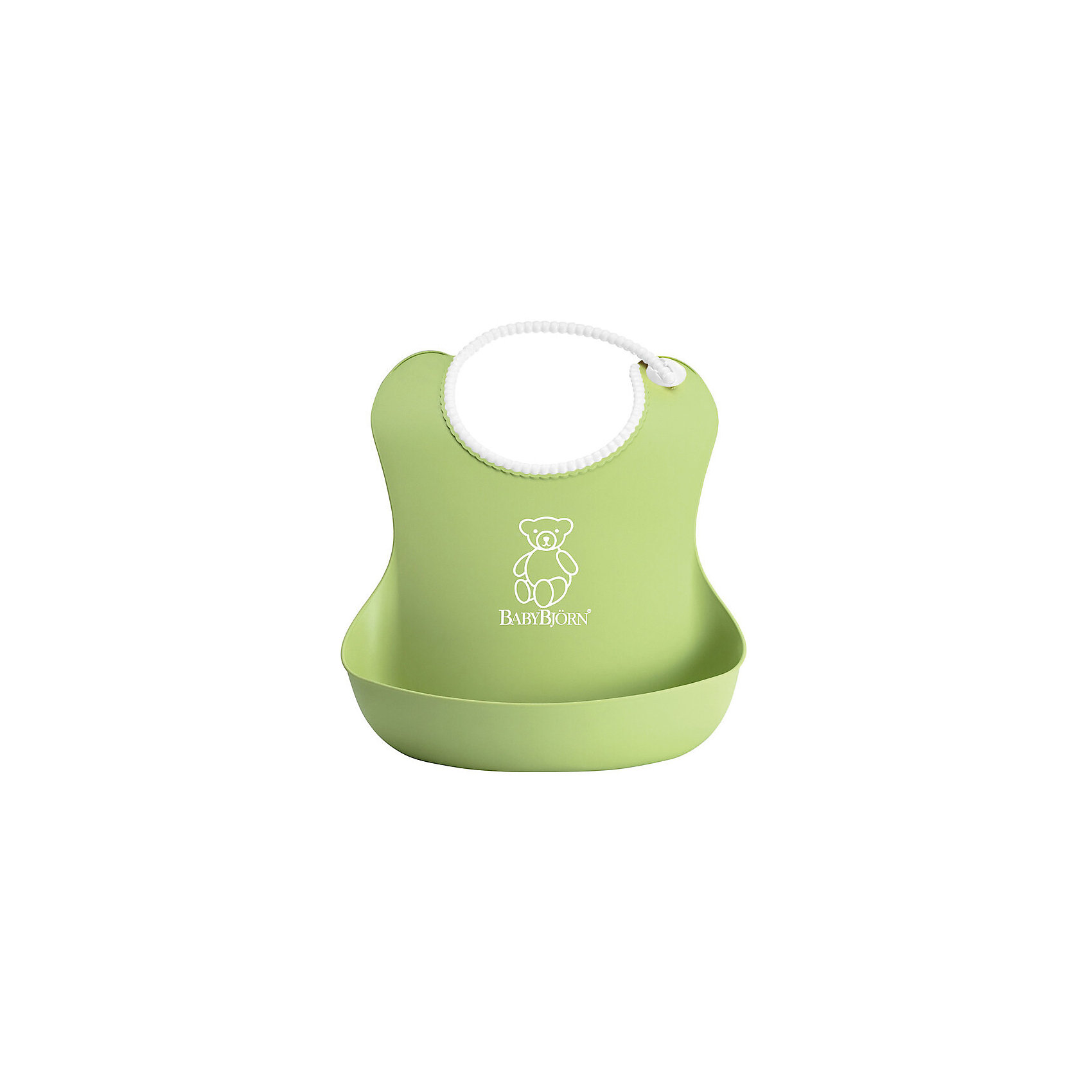 Мягкий нагрудник с карманом BabyBjorn, зеленыйНагрудники и салфетки<br>Мягкий нагрудник с карманом BabyBjorn (БэйбиБьёрн) - функциональный и удобный нагрудник для активных детишек!<br><br>Этот нагрудник является незаменимым помощником для родителей, чьи дети активны во время еды. <br><br>Эргономичный дизайн нагрудника идеально подходит к строению тела малыша. Не стоит переживать из-за того, что нагрудник изготовлен из мягкого пластика - горловина очень мягкая, поэтому не поцарапает шею малыша, а замочек легко застёгивается. Вся пища останется в специальном кармане для улавливания пищи, сам нагрудник легко мыть даже в посудомоечной машине. <br><br>Яркий дизайн улучшит аппетит малыша во время самостоятельного приёма пищи! <br><br>Мягкий нагрудник с карманом BabyBjorn можно купить в нашем интернет-магазине.<br><br>Дополнительная информация:<br><br>- Размер горловины: 19-30 см.<br>- Цвет: зеленый.<br>- Материал: полиэстат. Не содержит фталатов или ПВХ.<br><br>Мягкий нагрудник с карманом BabyBjorn, зеленый можно купить в нашем магазине.<br><br>Ширина мм: 254<br>Глубина мм: 324<br>Высота мм: 71<br>Вес г: 102<br>Возраст от месяцев: 4<br>Возраст до месяцев: 36<br>Пол: Унисекс<br>Возраст: Детский<br>SKU: 2157583