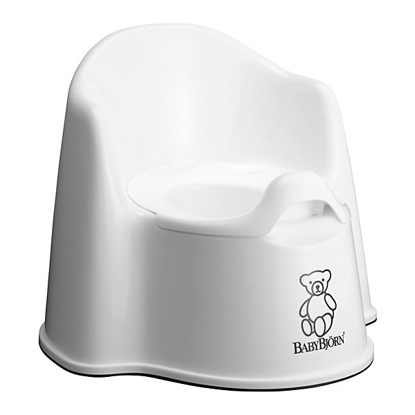 Кресло-горшок BabyBjorn, белыйДетские горшки и писсуары<br>Кресло-горшок BabyBjorn (БэйбиБьёрн) - на нем максимально удобно сидеть!<br><br>Для ребенка так важно, чтобы горшок был удобным. Эргономический дизайн с мягкими формами прекрасно справляется с это задачей! Кресло-горшок BabyBjorn с высокой спинкой, удобные подлокотники, возможность свободно перемещать ноги позволяют ребенку комфортно сидеть столько, сколько необходимо. <br><br>Надежная защита от брызг, одинаково подходит как девочкам, так и мальчикам. <br><br>Богатая цветовая гамма и высококачественный пластик (используются исключительно экологически чистые материалы) никого не оставят равнодушными. Внутренняя часть горшка легко вынимается и моется отдельно.  Ребенку будет удобно садиться и вставать, опираясь на подлокотники.  <br><br>Размер отверстия: <br>- с внутренней частью: 18 х 11,5 см <br>- без внутренней части: 18,5 х 12 см <br><br>Высота сиденья: 15 см.<br><br>Кресло-горшок BabyBjorn белого цвета можно купить в нашем интернет-магазине.<br>Ширина мм: 347; Глубина мм: 352; Высота мм: 314; Вес г: 955; Цвет: белый; Возраст от месяцев: 8; Возраст до месяцев: 36; Пол: Унисекс; Возраст: Детский; SKU: 2157593;
