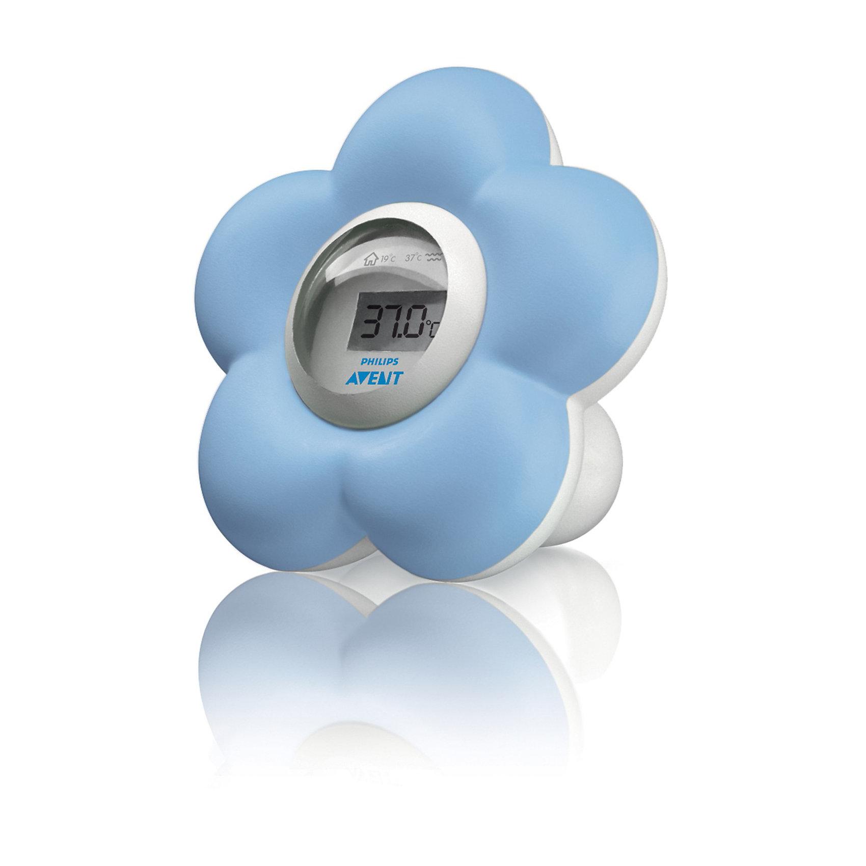 Цифровой термометр для воды и воздуха AVENTПрочие аксессуары<br>С помощью привлекательного  и простого  в употреблении  термометра для ванной и помещений удобно контролировать температуру, как  в детской, так и в ванной. Кроме того, исследования доказали абсолютную безопасность данного прибора, который можно использовать как игрушку для ребенка в ванной. Термометр  постоянно готов к работе, просто опустите его в воду или поставьте на полку в комнате ребёнка.  <br><br>Дополнительная информация:<br>• Диапазон температур для работы: 10 - 45 °C<br>•Точность: +/-1 °C<br>•Тип элемента питания: LR44<br>•Количество батарей: 2<br>•Съемный/ сменный: Да<br>•Руководство пользователя: Да<br><br>Кроме того, термометр может использоваться как игрушка для ванны – он испытан на безопасность в этом качестве, а также не тонет в воде.<br><br>Ширина мм: 80<br>Глубина мм: 80<br>Высота мм: 90<br>Вес г: 180<br>Возраст от месяцев: 0<br>Возраст до месяцев: 24<br>Пол: Унисекс<br>Возраст: Детский<br>SKU: 2174526