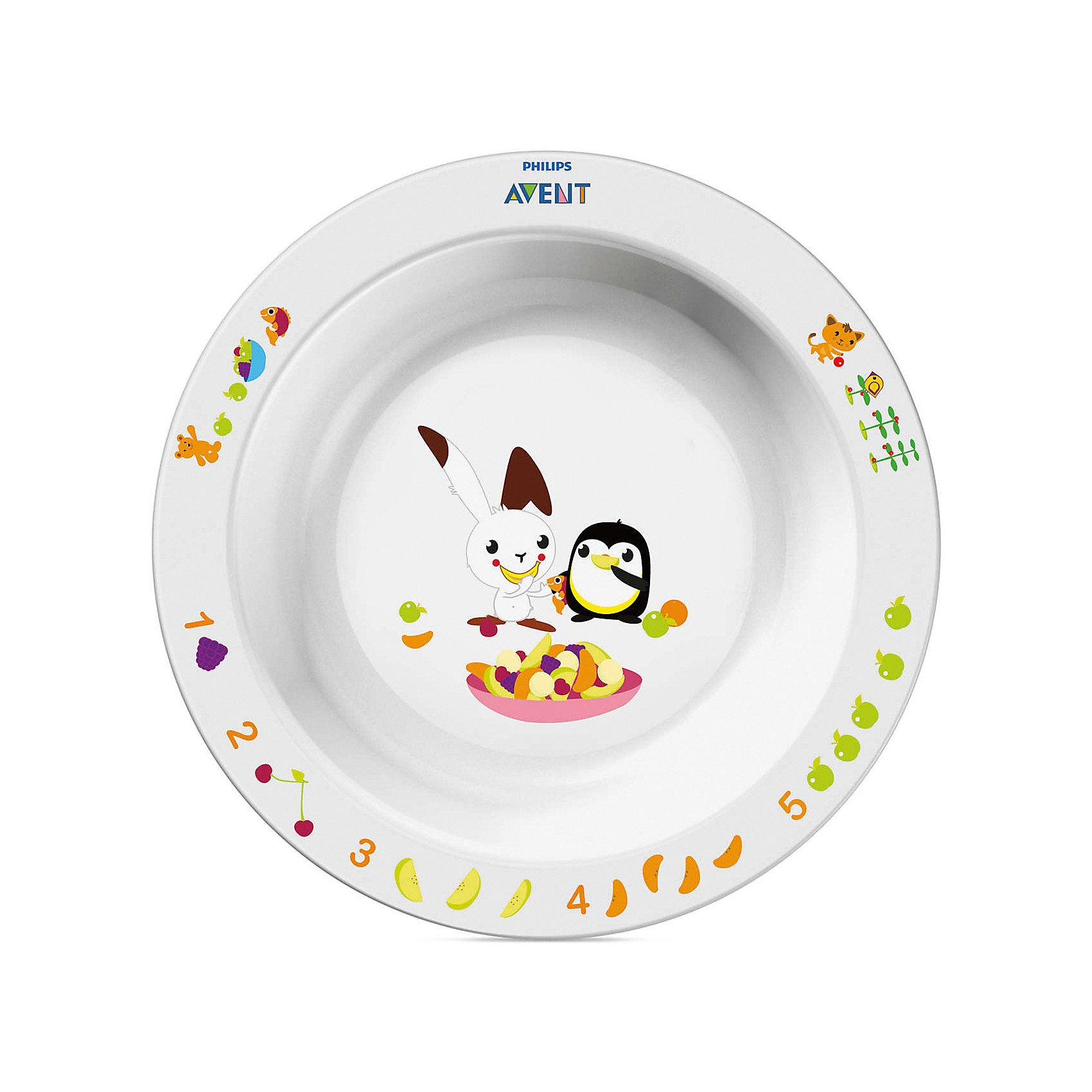 Большая глубокая тарелка AVENTТарелки<br>Детская большая тарелка  от AVENT в игровой форме обучает малыша есть самостоятельно. <br><br>Дополнительная информация: <br>- Развивающее оформление<br>- Нескользящее основание предотвращает проливание<br>- Широкие края удобны для самостоятельного питания <br>- Удобно мыть и хранить<br>- Можно мыть в посудомоечной машине <br>- Можно использовать в микроволновой печи <br>- Без бисфенола-А <br>- Разработано при участии ведущего детского психолога (Dr. Gillian Harris) <br>- Размеры: 43(Г)х175(Ш)х175(В)мм<br>- Вес: 0,126 кг.<br><br>Забавный сказочный герой кролик Труман заинтересует малыша, и его тарелка быстро опустеет! Тарелка идеально подойдёт малышам, которые стремятся <br>скорее научиться самостоятельно есть!<br><br>Ширина мм: 40<br>Глубина мм: 210<br>Высота мм: 260<br>Вес г: 175<br>Возраст от месяцев: 12<br>Возраст до месяцев: 60<br>Пол: Унисекс<br>Возраст: Детский<br>SKU: 2174538