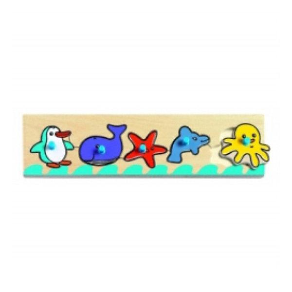 Рамки-вкладыши Море, DJECOПазлы для малышей<br>Увлекательная настольная игра-пазл  для самых маленьких. На деревянной доске расположены выемки, в которые нужно поместить соответствующие фигурки животных: пингвина, кита, морскую звездочку, дельфинчика и осьминожку. Каждая фигурка имеет удобную ручку-держатель, созданную специально для маленьких пальчиков малыша.<br><br>Дополнительная информация:<br><br>- Материал: дерево.<br>- Размер игрушки: 29,8 х 10 х 7,8 см.<br>- Вес: 0,3 кг. <br><br>Сортировку-пазл Море DJECO (Джеко) можно купить в нашем магазине.<br><br>Ширина мм: 298<br>Глубина мм: 78<br>Высота мм: 10<br>Вес г: 150<br>Возраст от месяцев: 12<br>Возраст до месяцев: 36<br>Пол: Унисекс<br>Возраст: Детский<br>SKU: 2175103