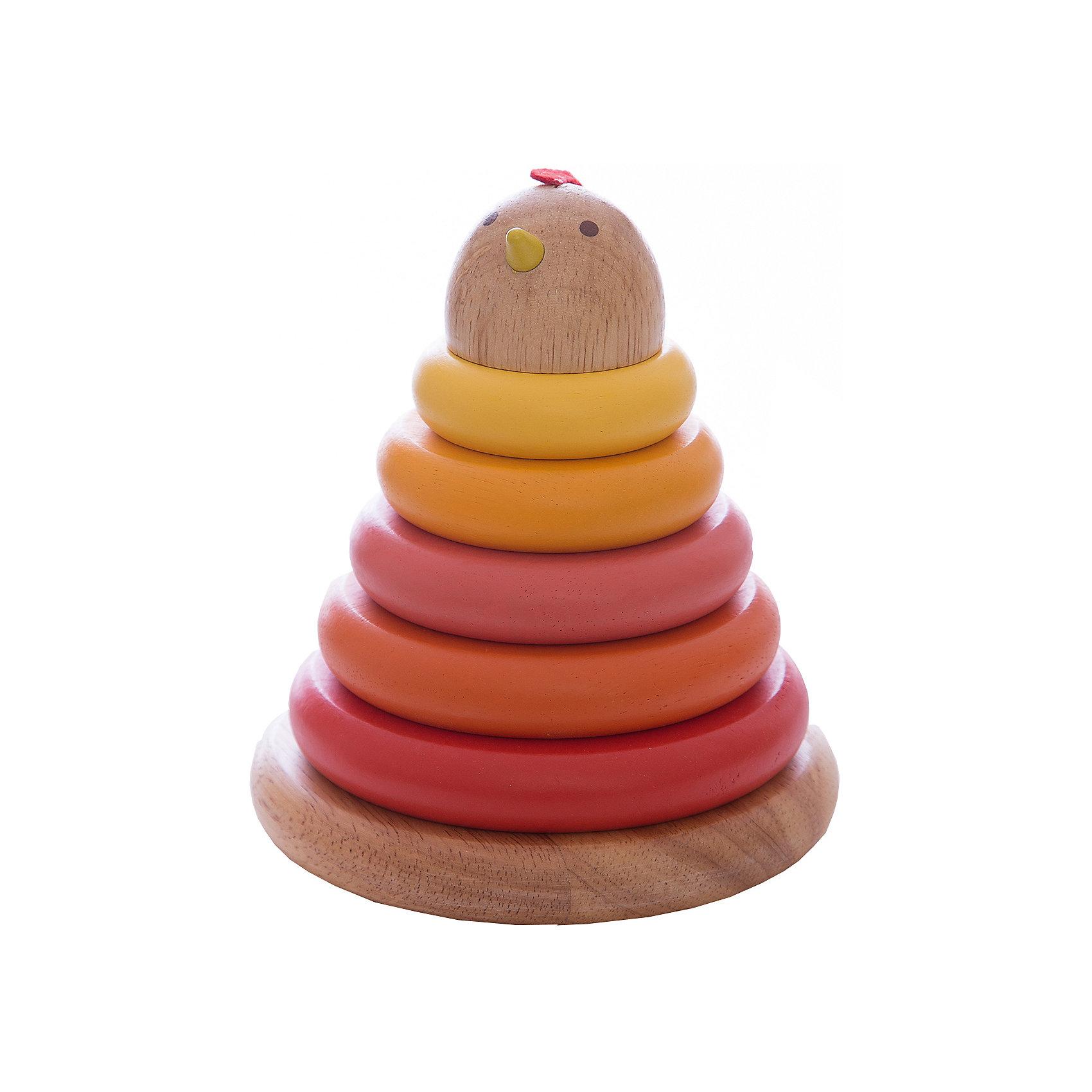 DJECO Пирамидка КурочкаКлассическая пирамидка с оригинальным дизайном привлечет внимание Вашего малыша. В пирамидке 5 ярких разноцветных колец, спектр цветов от ярко-красного до желтого, наконечник пирамидки в виде головы курочки. В пирамидке есть сюрприз - маленькое белое яичко, которое устанавливается внутри пирамидки на основание стержня.<br><br><br>Дополнительная информация:<br><br>- Материал: дерево<br>- Размер игрушки: 13 х 13 х 15 см.<br>- Размер упаковки: 15,5 х 13 х 13 см.<br>- Вес: 250 г.<br><br>Игра с пирамидкой развивает у ребенка мелкую моторику, логическое мышление и цветовосприятие.<br><br>Пирамидку DJECO (Джеко) можно купить в нашем магазине.<br><br>Ширина мм: 130<br>Глубина мм: 130<br>Высота мм: 150<br>Вес г: 250<br>Возраст от месяцев: 12<br>Возраст до месяцев: 24<br>Пол: Унисекс<br>Возраст: Детский<br>SKU: 2175113