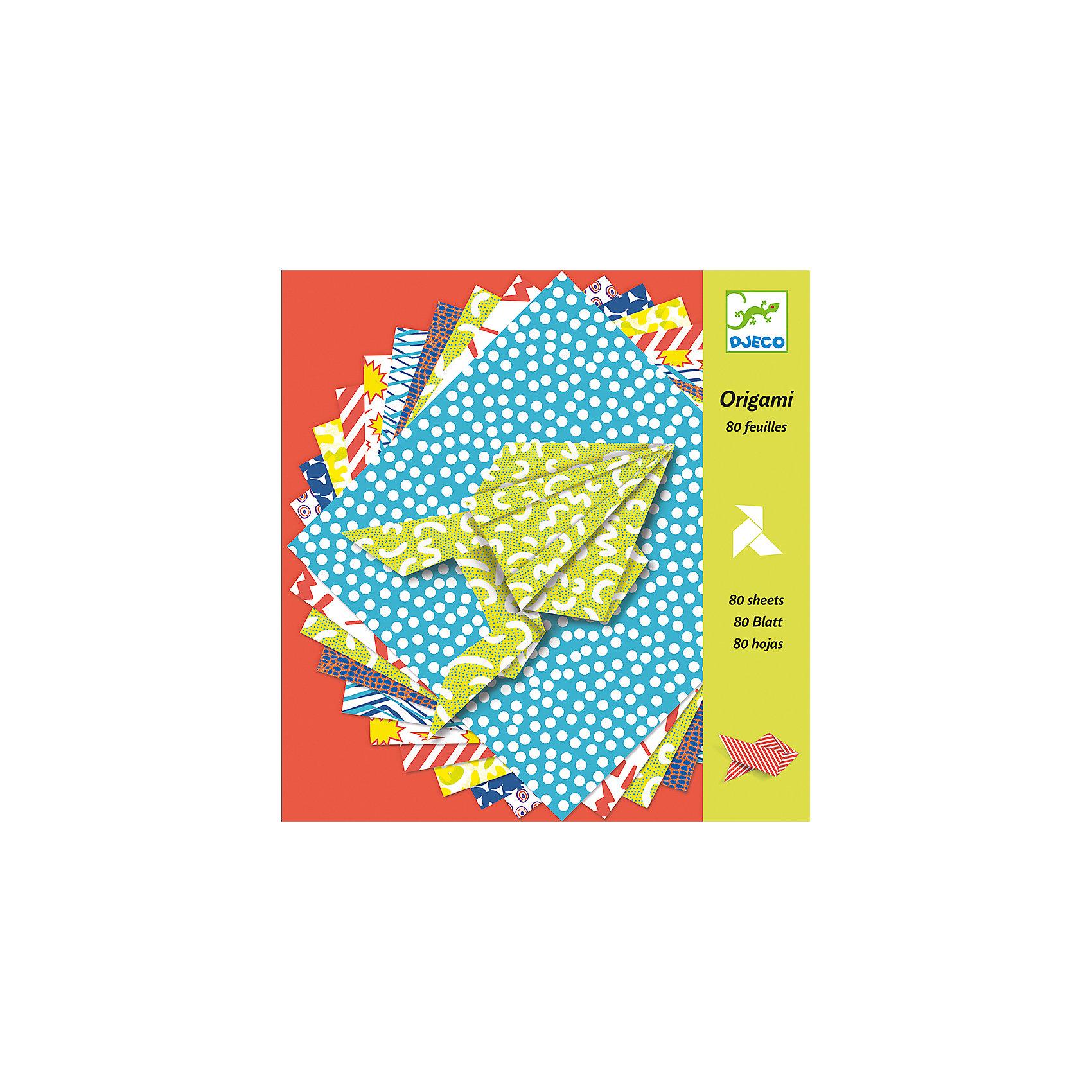 DJECO Оригами БумажныеНаборы оригами<br>Оригами DJECO (Джеко) представляют собой набор из 100 различных разноцветных листов. <br><br>Этот набор показывает детям как сделать птиц, рыб и лягушек,  просто складывая бумагу. <br><br>Дополнительная информация:<br><br>- набор содержит 100 печатных листов с различным дизайном и пошаговые инструкции по созданию фигурок<br>- все это хранится в прочной коробке, что делает хранение безопасным и аккуратным<br>- размер коробки 21,5 х 21,5 х 2,5 см<br><br>Оригами является не только приятным времяпровождением, но и помогает координации движений, развитию мелкой моторики, а также способность ребенка распознавать формы.<br><br>Ширина мм: 210<br>Глубина мм: 230<br>Высота мм: 2<br>Вес г: 50<br>Возраст от месяцев: 84<br>Возраст до месяцев: 180<br>Пол: Унисекс<br>Возраст: Детский<br>SKU: 2175148