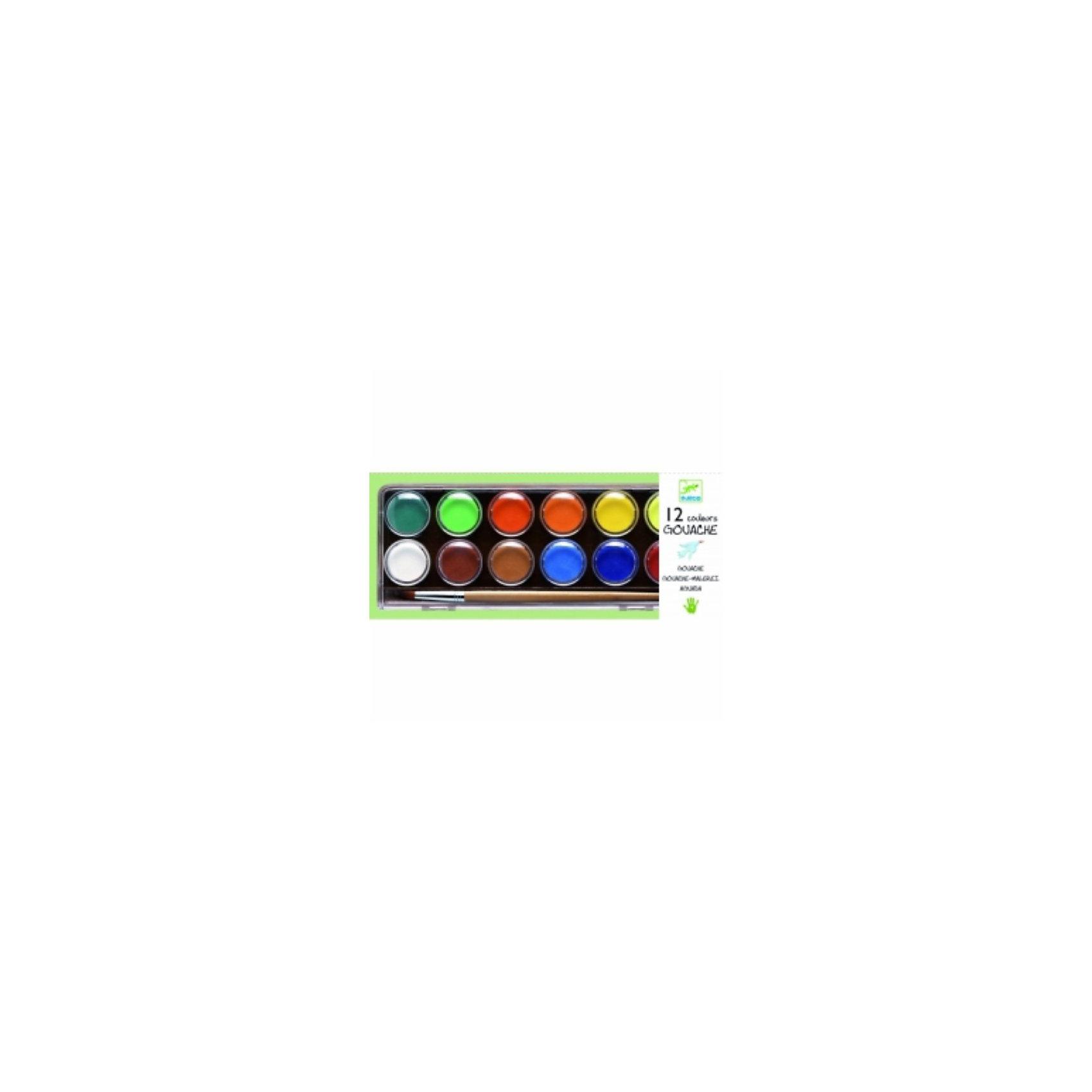 Акварель матовая (классическая гуашь), DJECOМатовая акварельная краска.<br>В наборе 12 цветов.<br><br>Ширина мм: 95<br>Глубина мм: 225<br>Высота мм: 15<br>Вес г: 150<br>Возраст от месяцев: 24<br>Возраст до месяцев: 2147483647<br>Пол: Унисекс<br>Возраст: Детский<br>SKU: 2175154