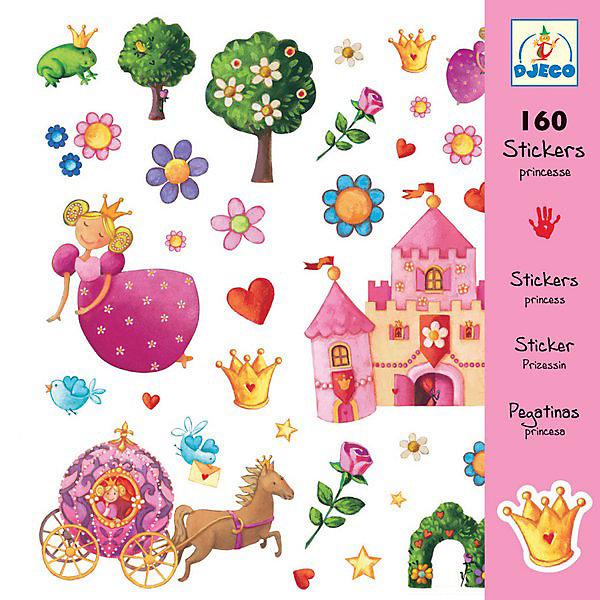DJECO Набор из 160 наклеек, ПринцессыАксессуары для творчества<br>Эти очаровательные наклейки украсят любую тетрадь, папку или приглашение на детский праздник! В наборе 160 наклеек.<br><br>DJECO (Джеко) Набор из 160 наклеек, Принцессы можно купить в нашем магазине.<br>Ширина мм: 210; Глубина мм: 230; Высота мм: 2; Вес г: 50; Возраст от месяцев: 36; Возраст до месяцев: 60; Пол: Женский; Возраст: Детский; SKU: 2175161;