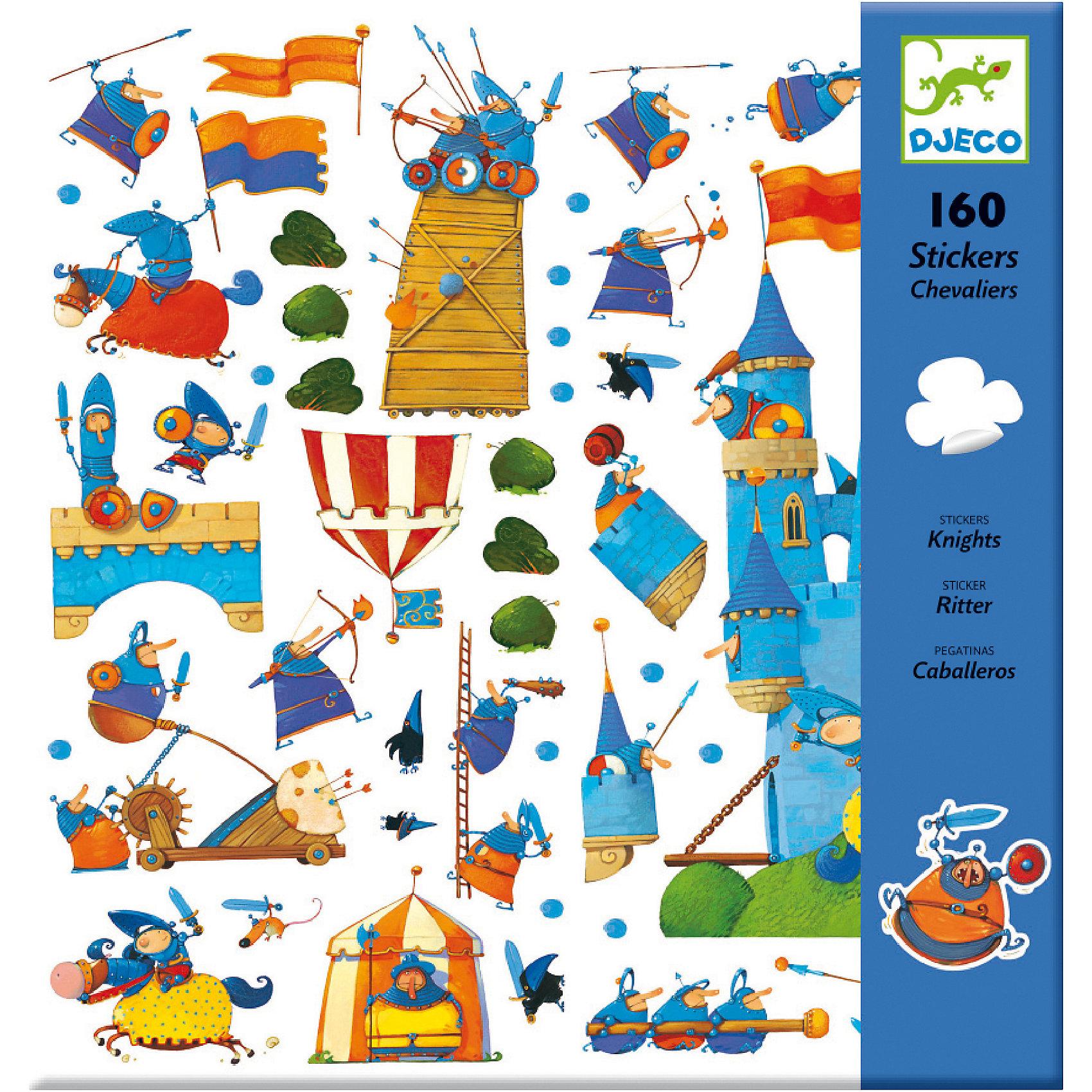 DJECO DJECO Набор из 160 наклеек Рыцари тюнер dvb t2 d color dc700hd