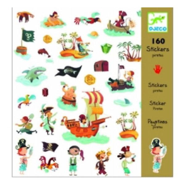 DJECO Набор из 160 наклеек ПиратыАксессуары для творчества<br>Эти очаровательные наклейки украсят любую тетрадь, папку или приглашение на детский праздник! В наборе 160 наклеек.<br><br>DJECO (Джеко) Набор из 160 наклеек Пираты можно купить в нашем магазине.<br>Ширина мм: 210; Глубина мм: 230; Высота мм: 2; Вес г: 50; Возраст от месяцев: 36; Возраст до месяцев: 2147483647; Пол: Мужской; Возраст: Детский; SKU: 2175166;