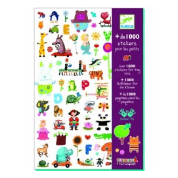 DJECO Набор из 1000 наклеек для малышейАксессуары для творчества<br>Эти очаровательные наклейки украсят любую тетрадь, папку или приглашение на детский праздник! В наборе 1000 наклеек.<br><br>DJECO (Джеко) Набор из 1000 наклеек для малышей можно купить в нашем магазине.<br>Ширина мм: 210; Глубина мм: 310; Высота мм: 100; Вес г: 50; Возраст от месяцев: 36; Возраст до месяцев: 2147483647; Пол: Унисекс; Возраст: Детский; SKU: 2175181;